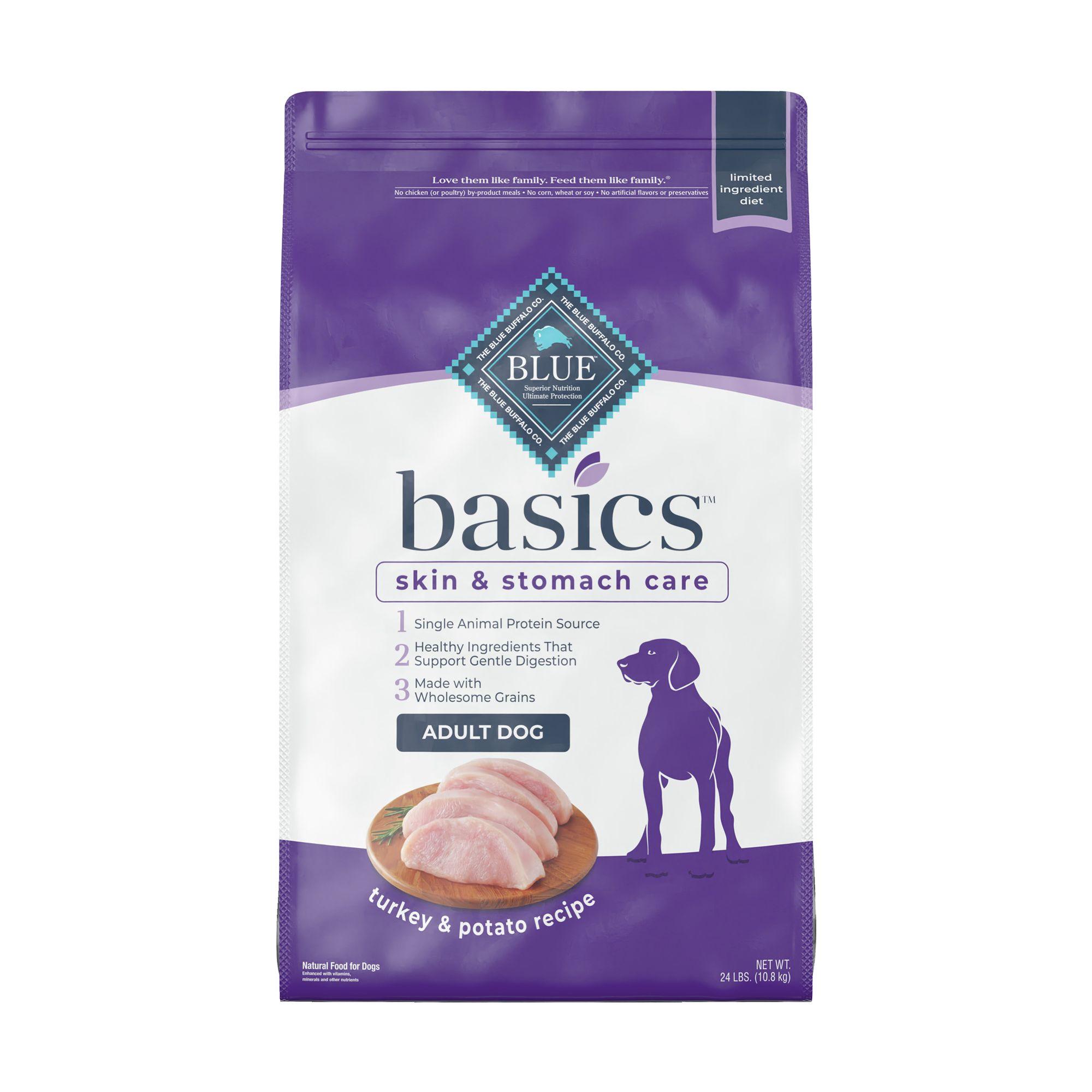 Blue Basics Limited Ingredient Adult Dog Food Size 24 Lb Blue Buffalo