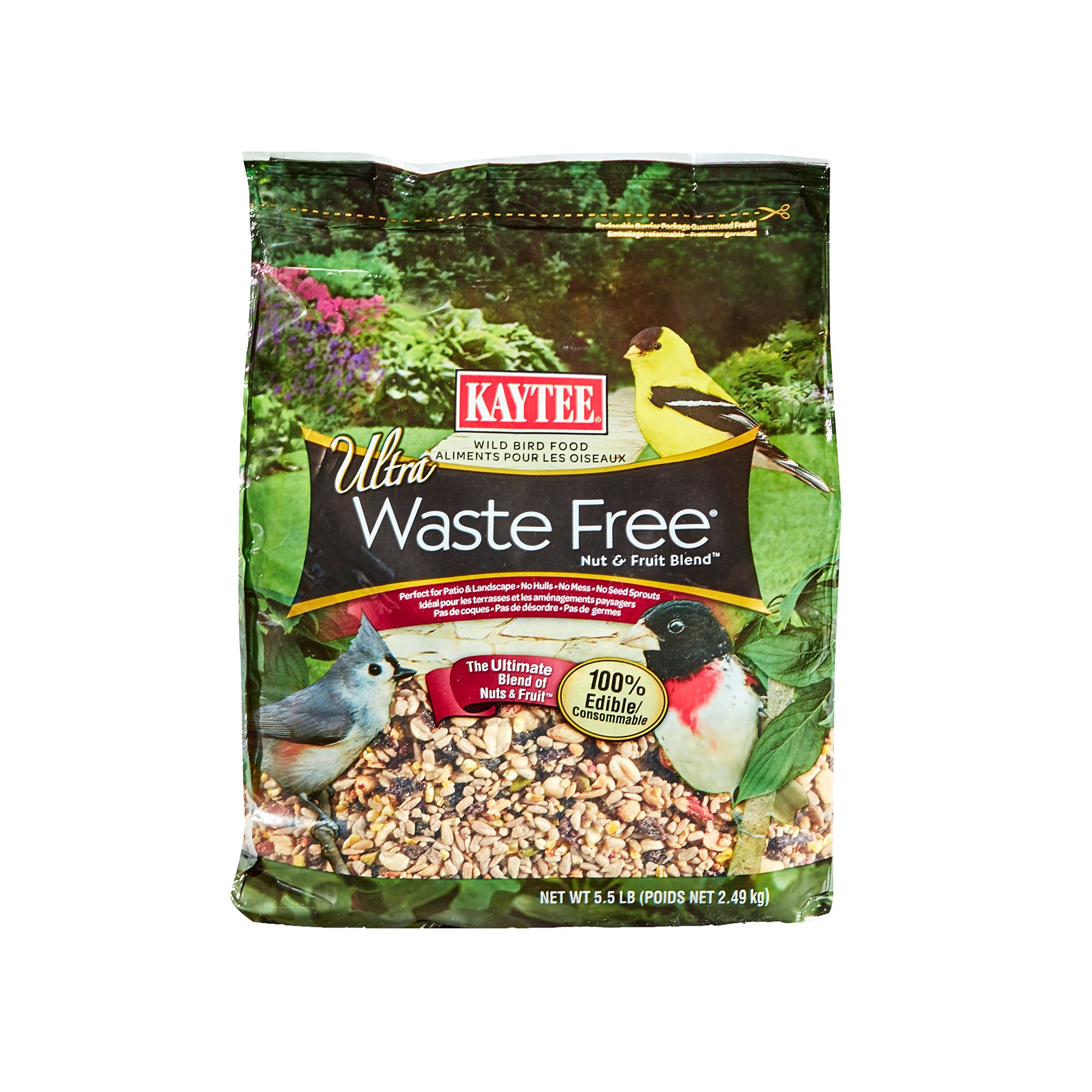 Kaytee Waste Free Nuts and Fruit Blend Wild Bird Food size: 5.5 Lb 5150578