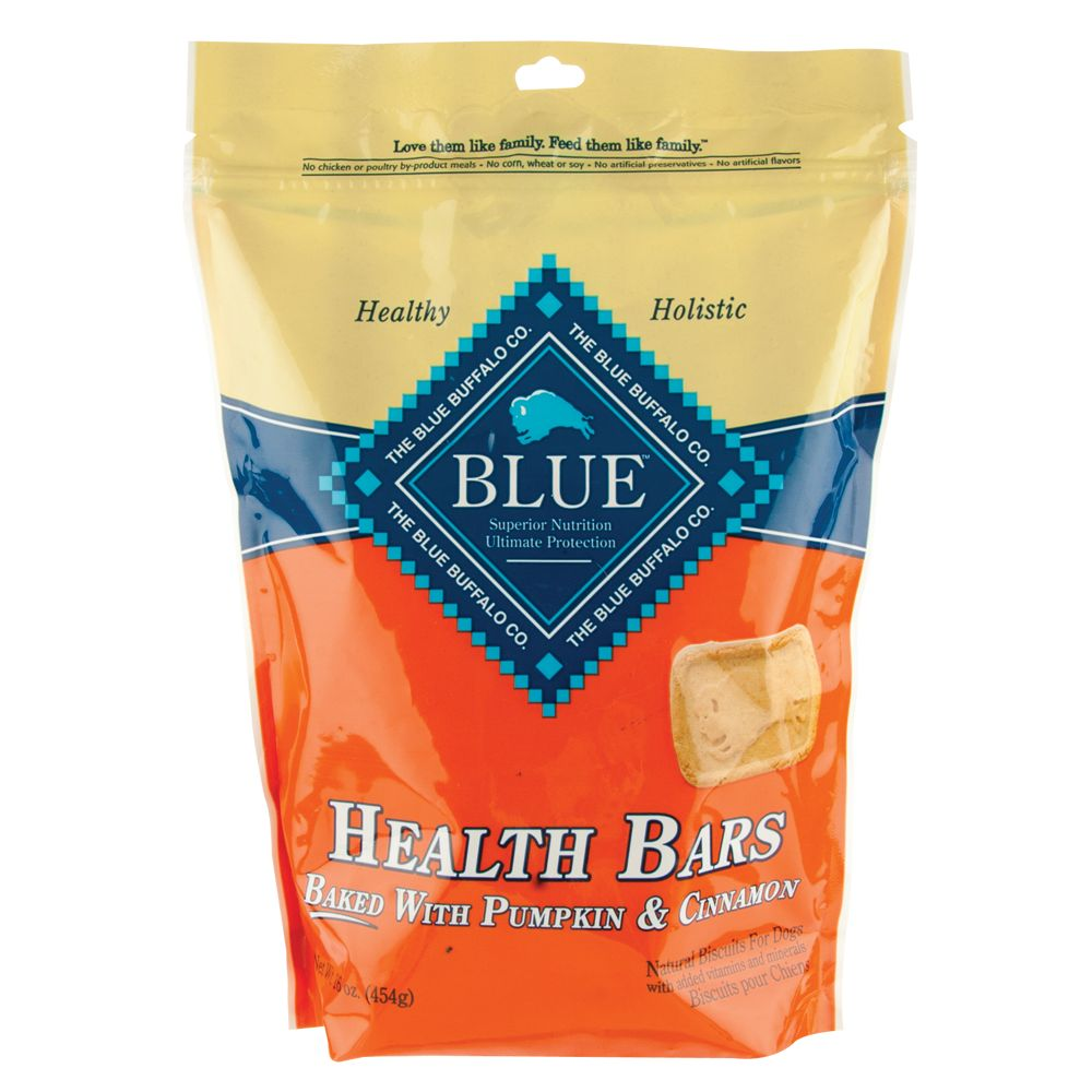 Blue Health Bars Natural Biscuit Dog Treat size: 16 Oz, Blue Buffalo, Pumpkin & Cinnamon, Adult, Oatmeal
