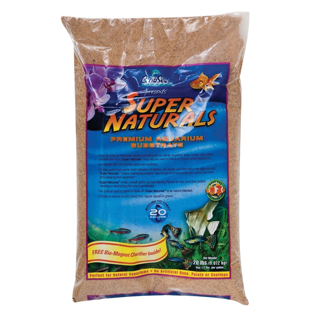Caribsea Super Naturals Premium Aquarium Substrate Size 20 Lb Sunset Gold