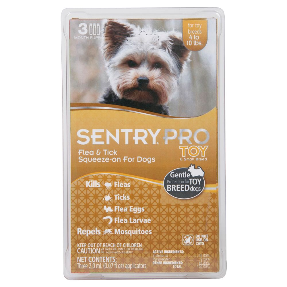 Sentry PRO 4-10 Lb Dog Flea and Tick Treatment size: 3 Off