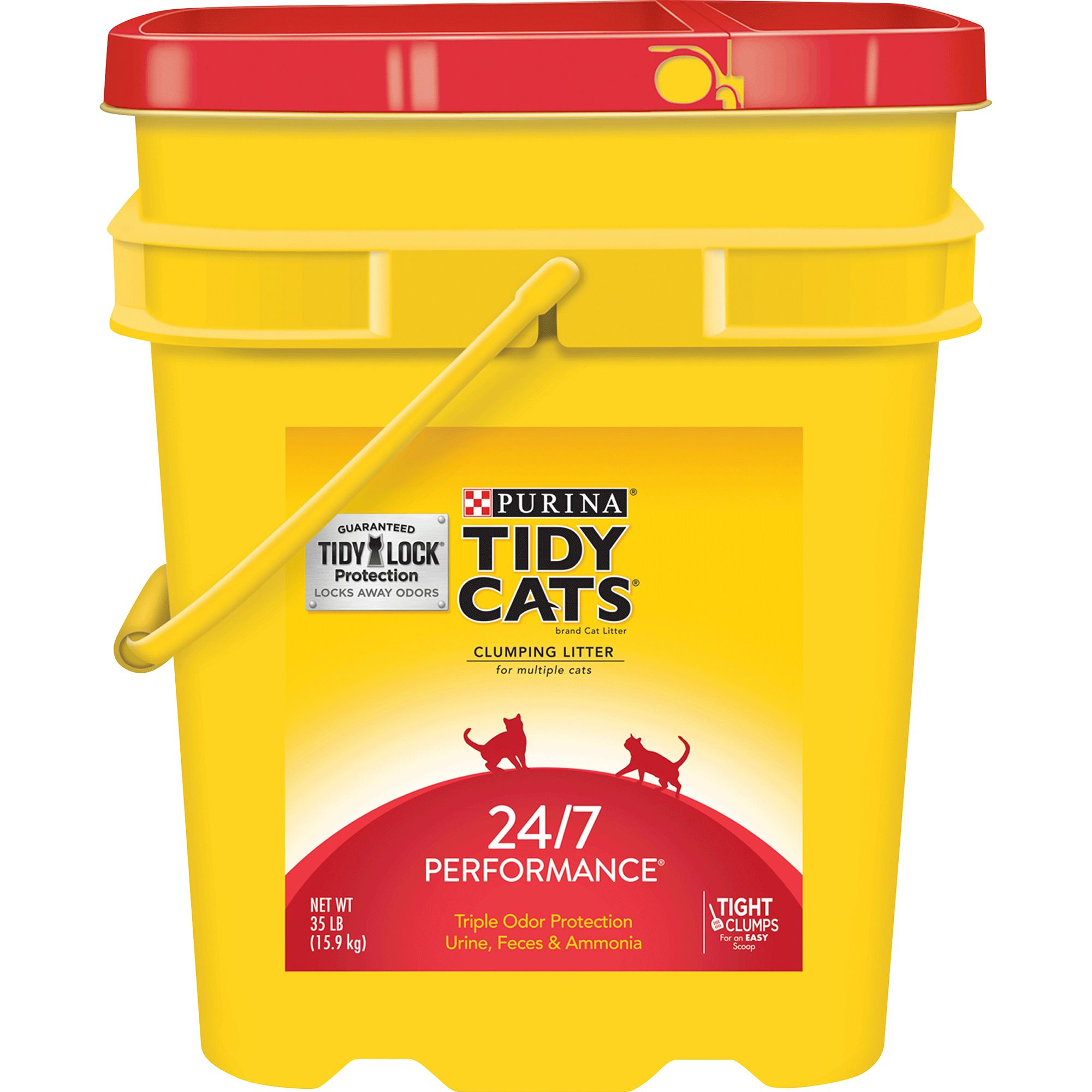 Purina Tidy Cats 24/7 Performance Cat Litter Clumping Multi Cat Size 35 Lb