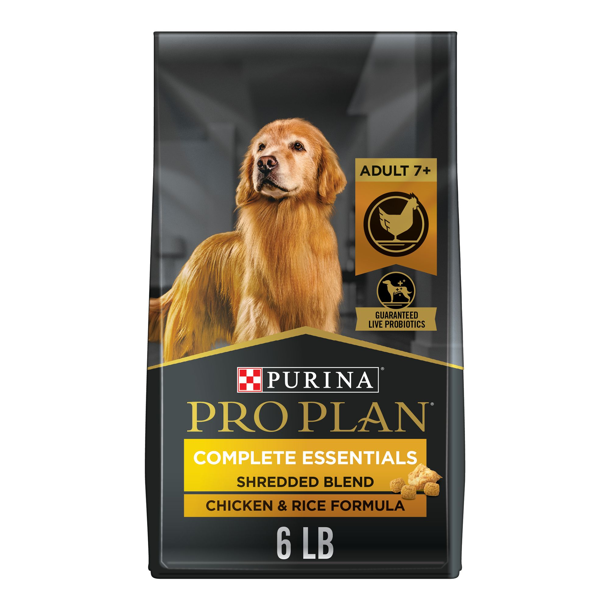 Purina Pro Plan Adult Dog Food Size 6 Lb Chicken And Rice Kibble 7 Yrs Chicken Broth