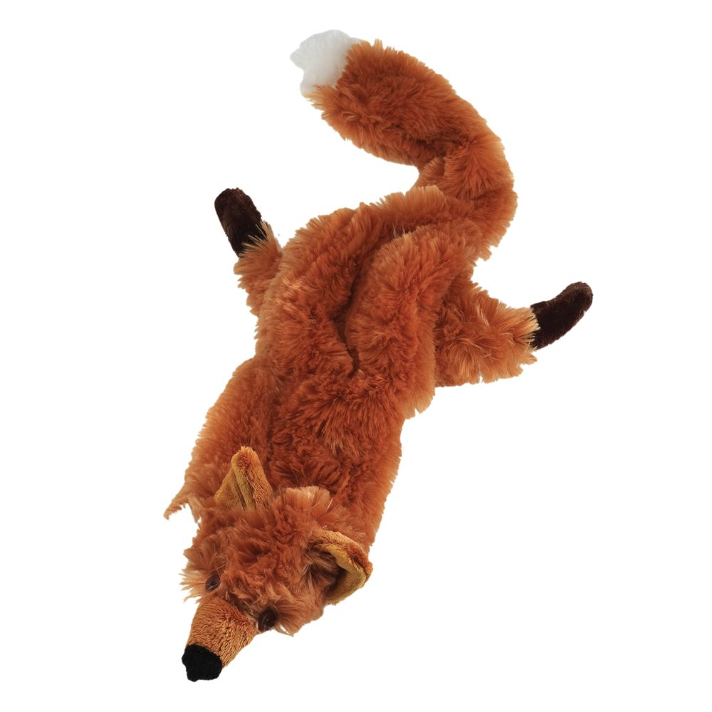 As Seen On Tv Crazy Critters Fox Dog Toy Stuffing Free Squeaker