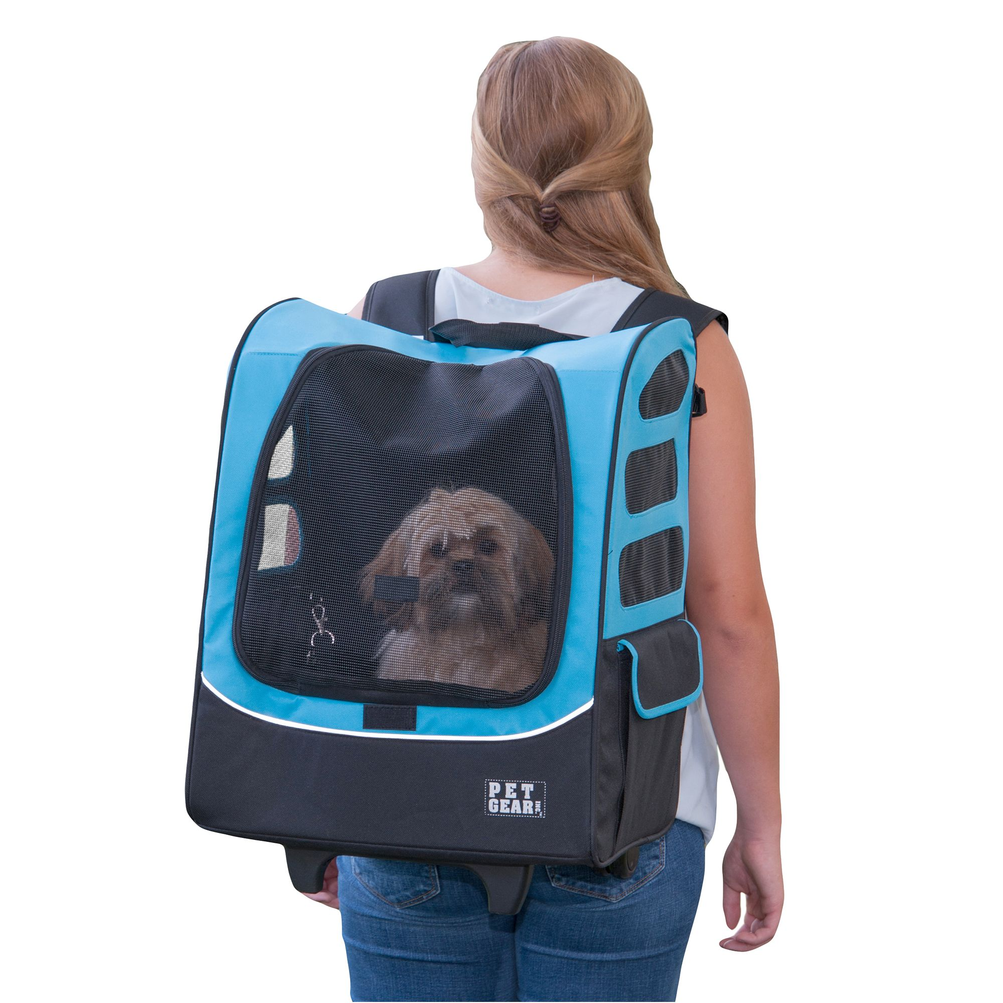 Pet Gear I-GO-2 Travler Plus Pet Backpack Carrier, Blue