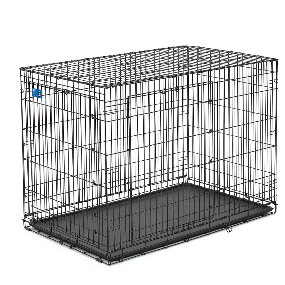 Top Paw Double Door Wire Dog Crate Size 48l X 30w X 33h Black
