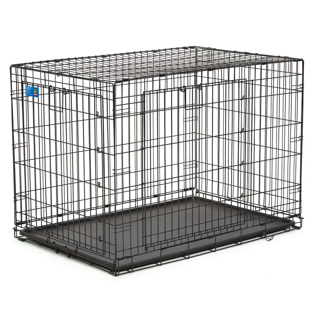 Top Paw Double Door Wire Dog Crate Size 42l X 28w X 30h Black