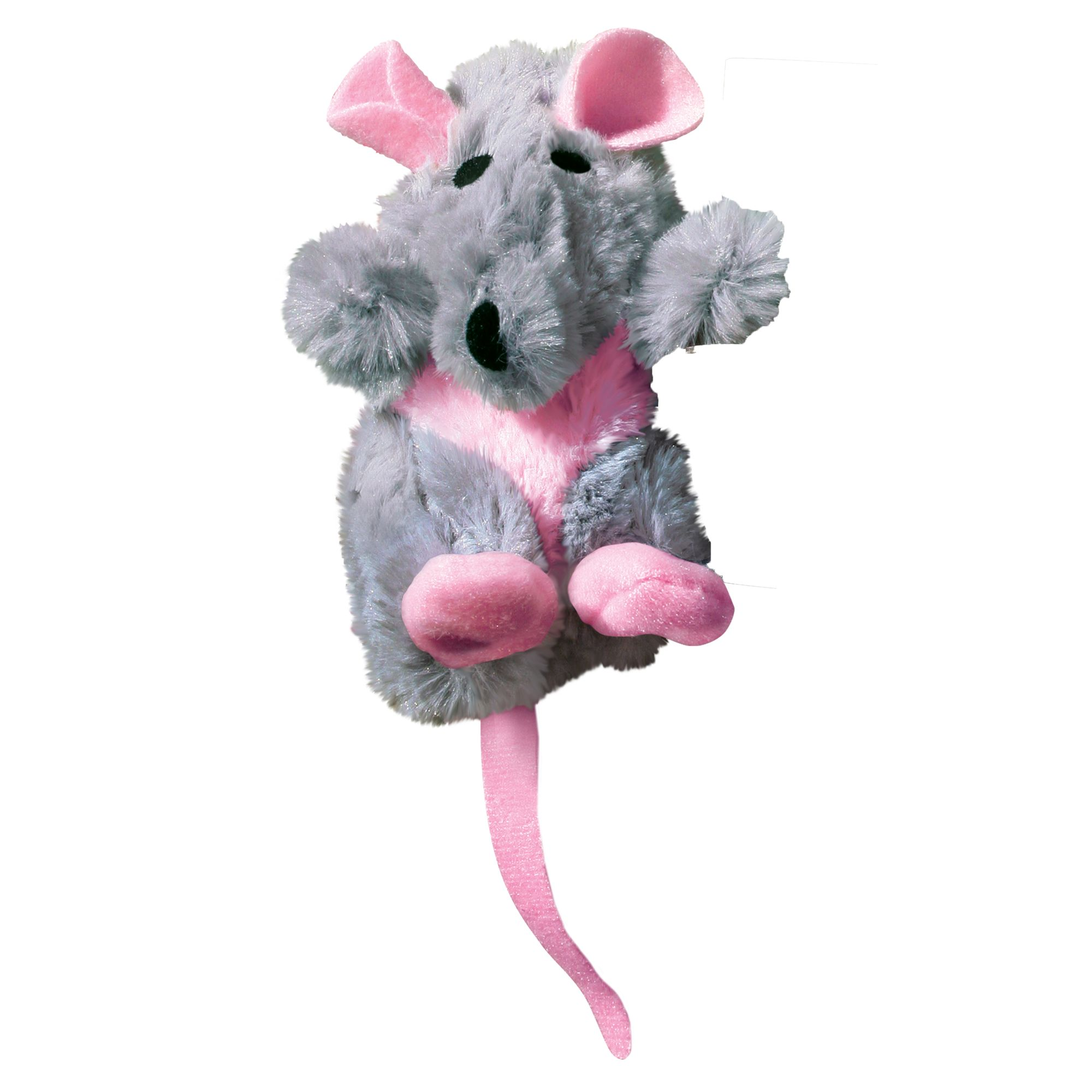 Kong Catnip Rat Cat Toy, Grey 5154385