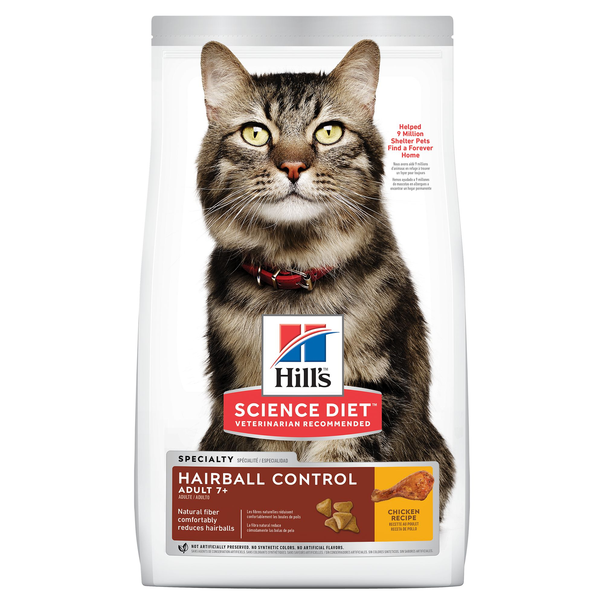 Hill's® Science Diet® Hairball Control Senior Cat Food - Chicken 5154817