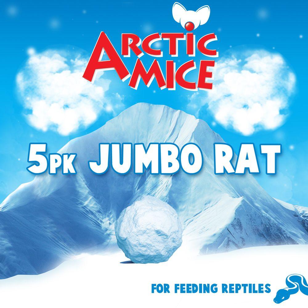 Arctic Mice Jumbo Frozen Rats Size 5 Count