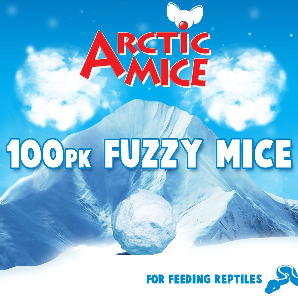 Arctic Mice Fuzzie Frozen Mice Size 100 Count