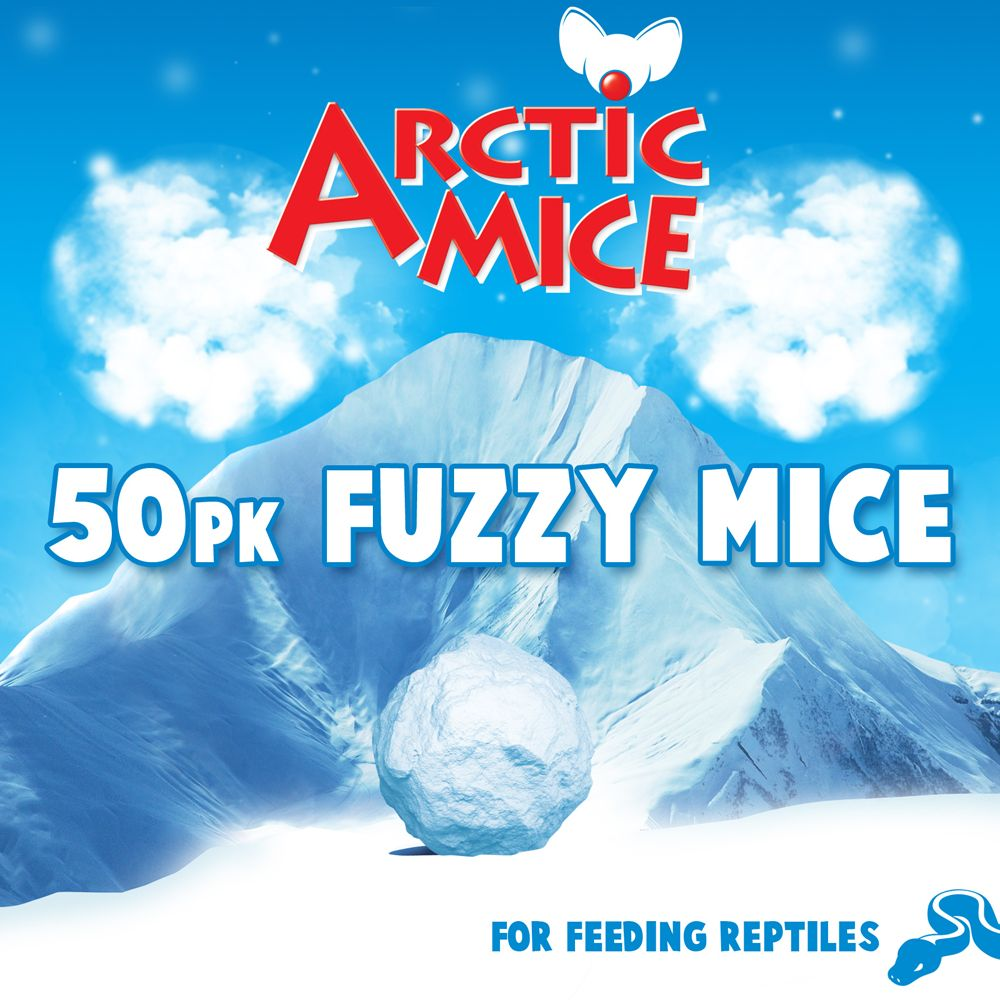 Arctic Mice Fuzzie Frozen Mice Size 50 Count
