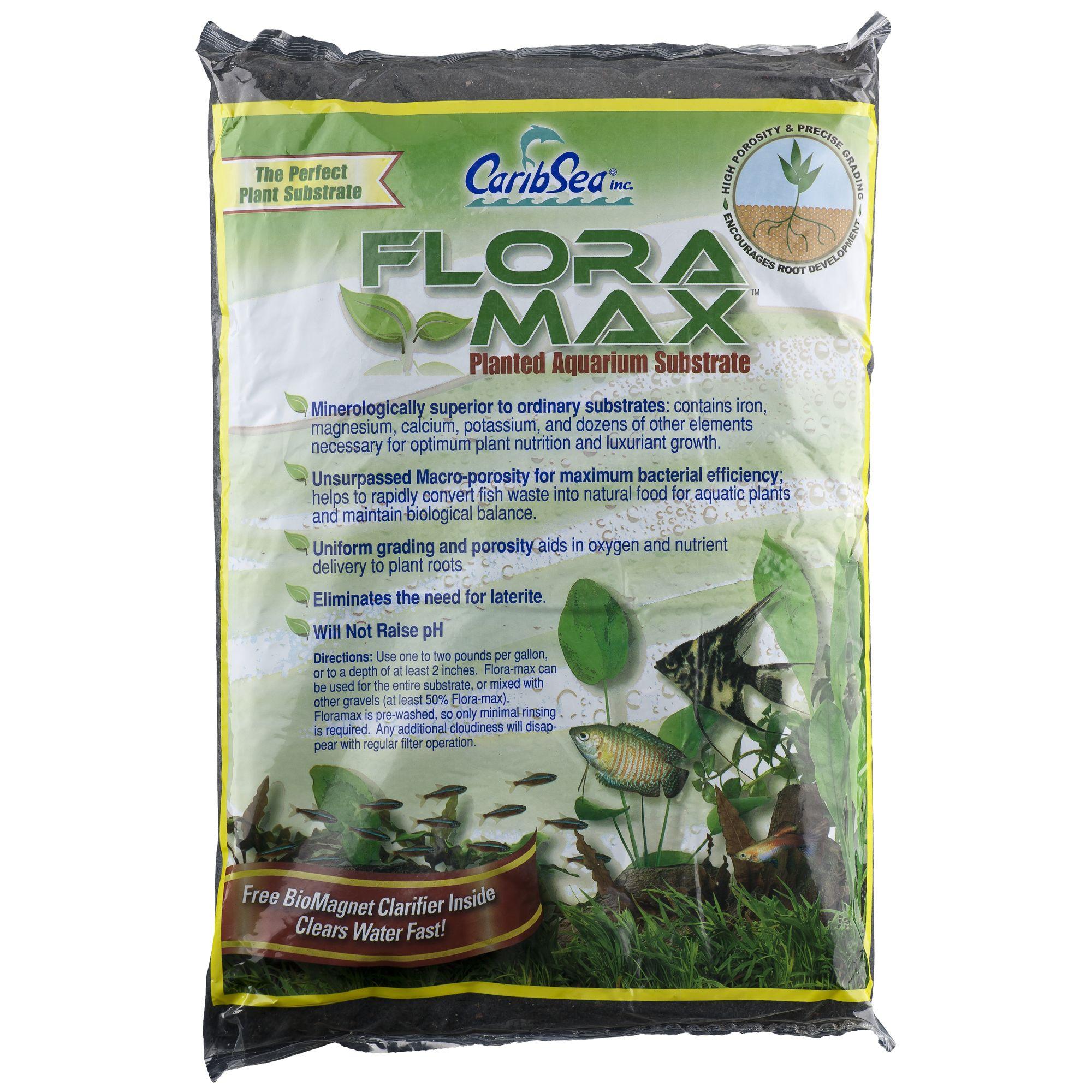 Caribsea Flora Max Planted Aquarium Substrate Size 12 Lb Midnight Black