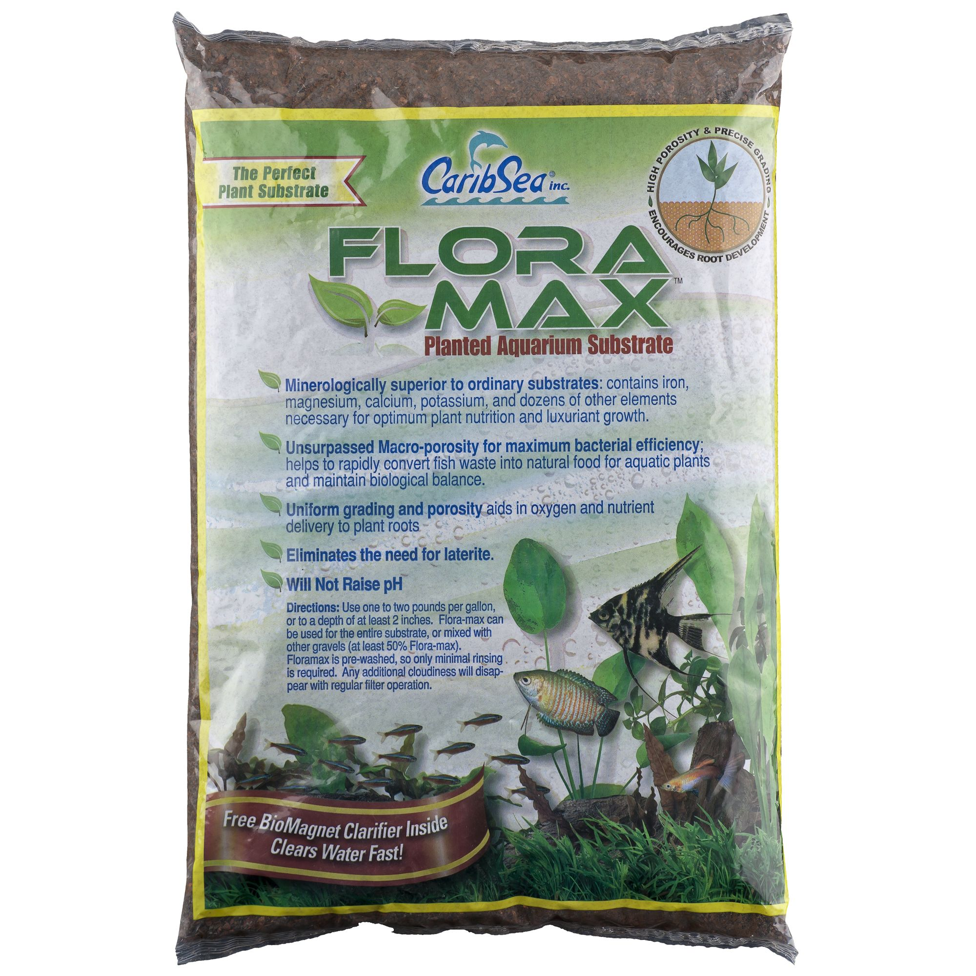 Caribsea Flora Max Planted Aquarium Substrate Size 12 Lb Red