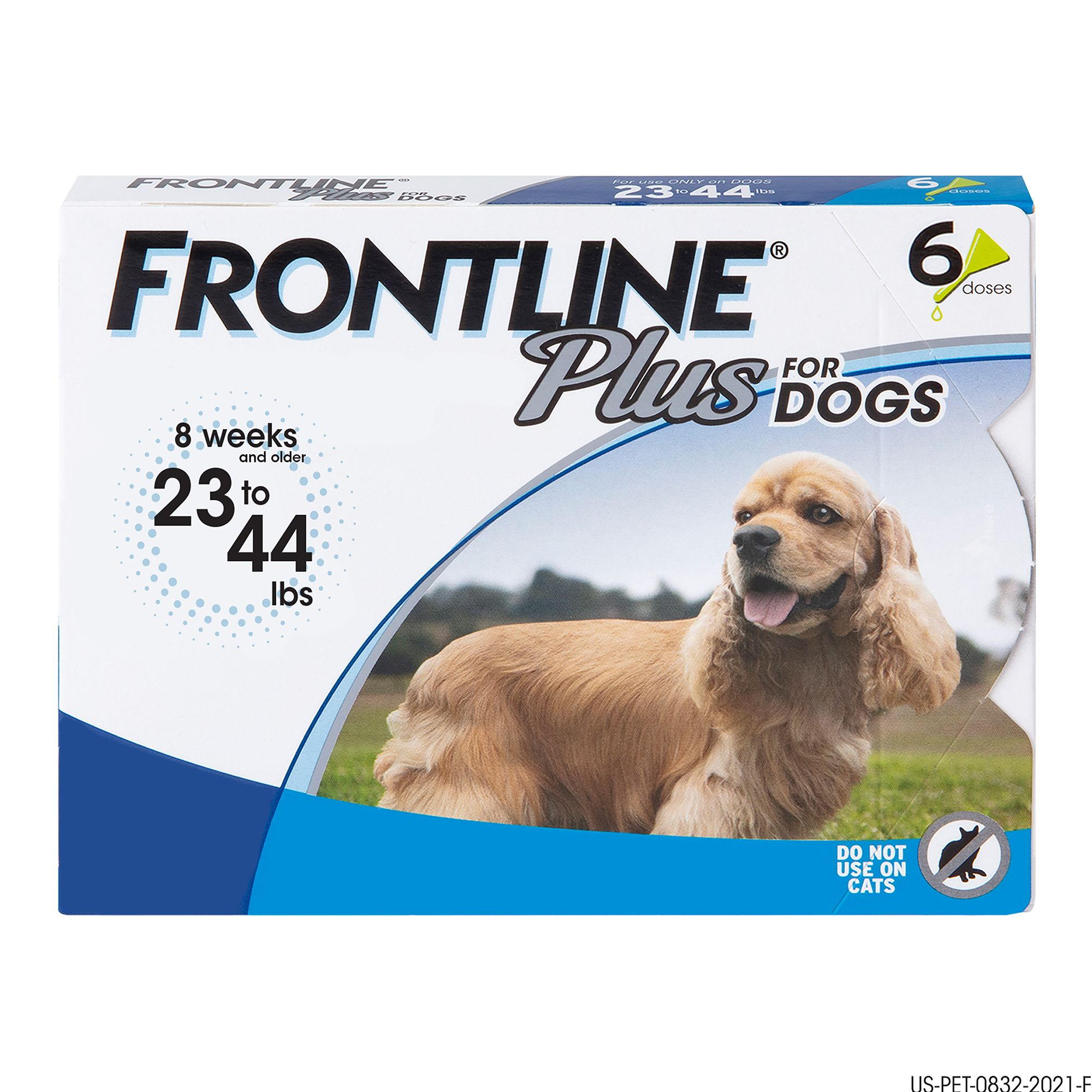 Frontline Plus 23 44 Lb Dog Flea And Tick Treatment Size 6 Count