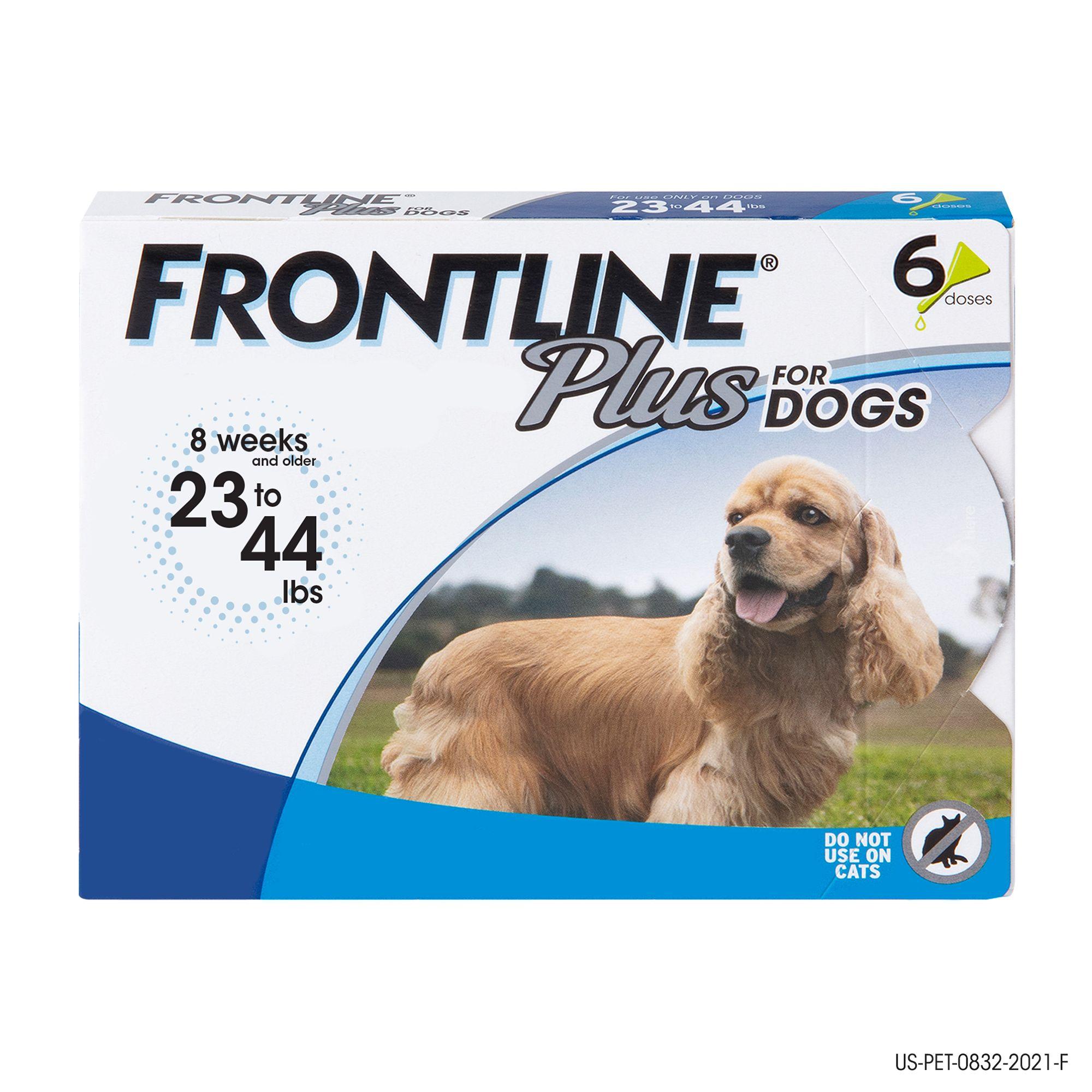 Frontline Plus 23 44 Lb Dog Flea And Tick Treatment Size 6 Count