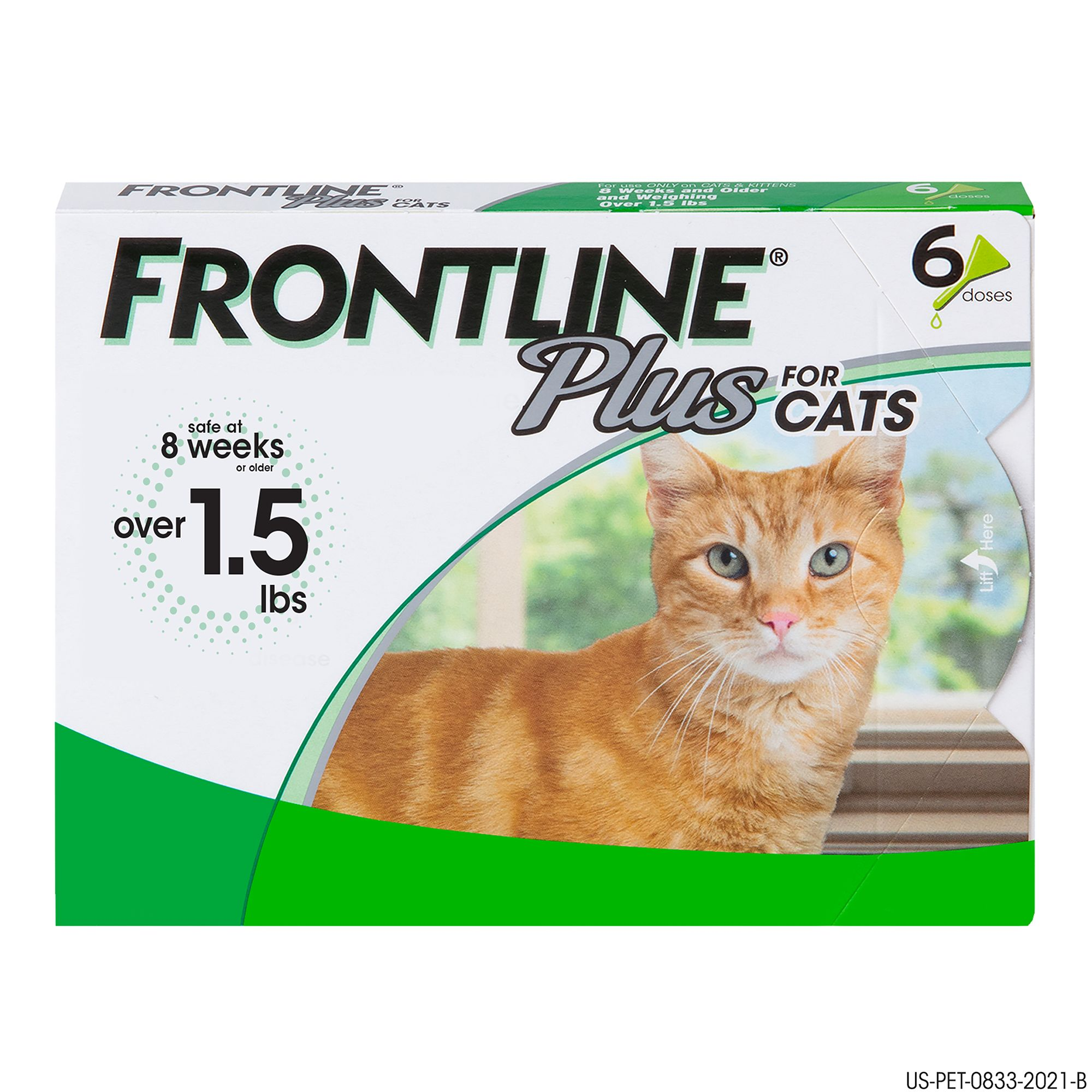 Frontline Plus Cat Flea and Tick Treatment size: 6 Count, 8 weeks or older