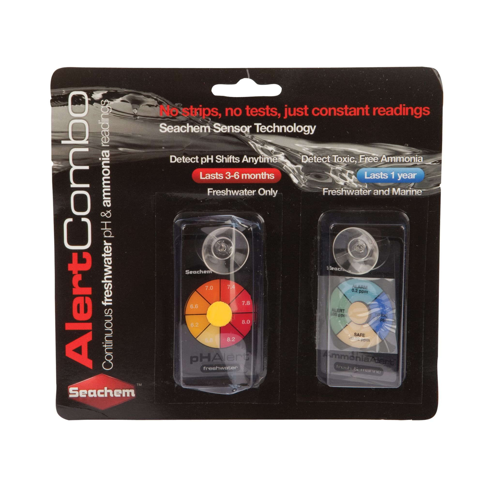 Seachem Alert Combo Aquarium Ph And Ammonia Detector