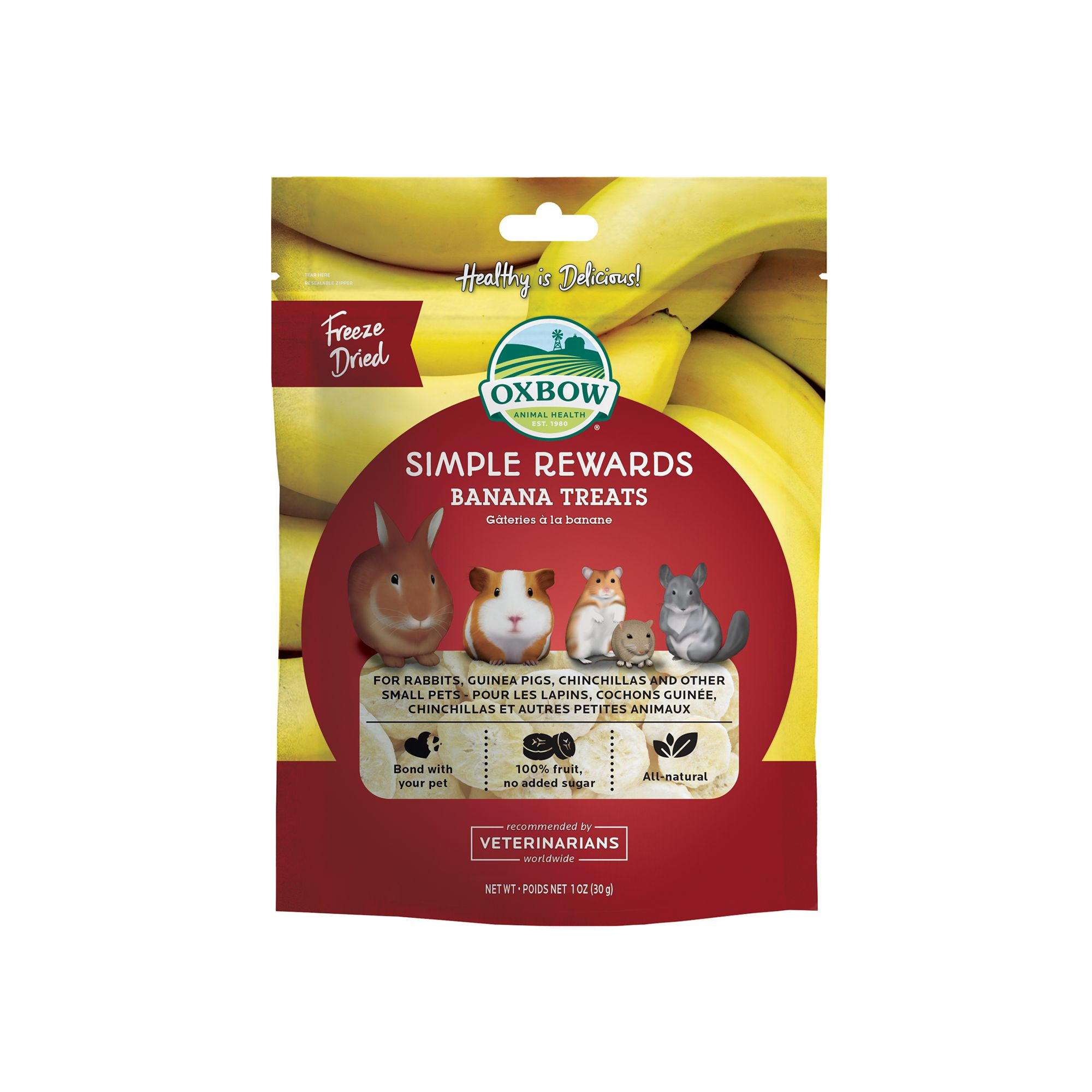 Oxbow Simple Rewards Small Animal Treats size: 1 Oz, All Life Stages 5157159