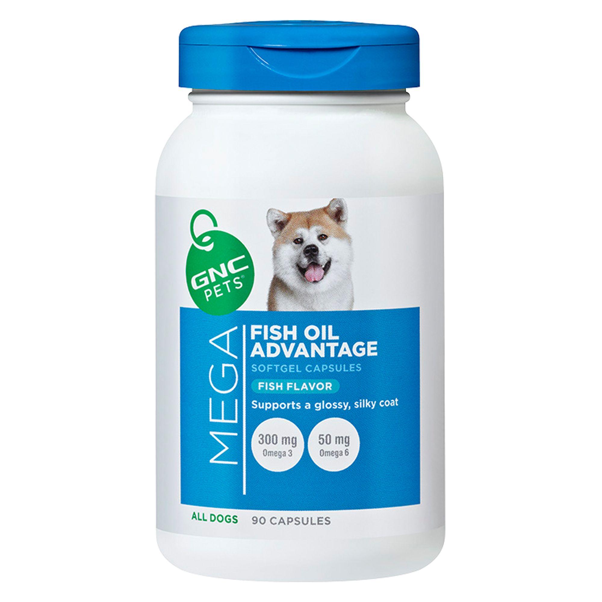 Gnc Mega Fish Oil Advantage Dog Softgel Capsule Size 90 Count Gnc Pets