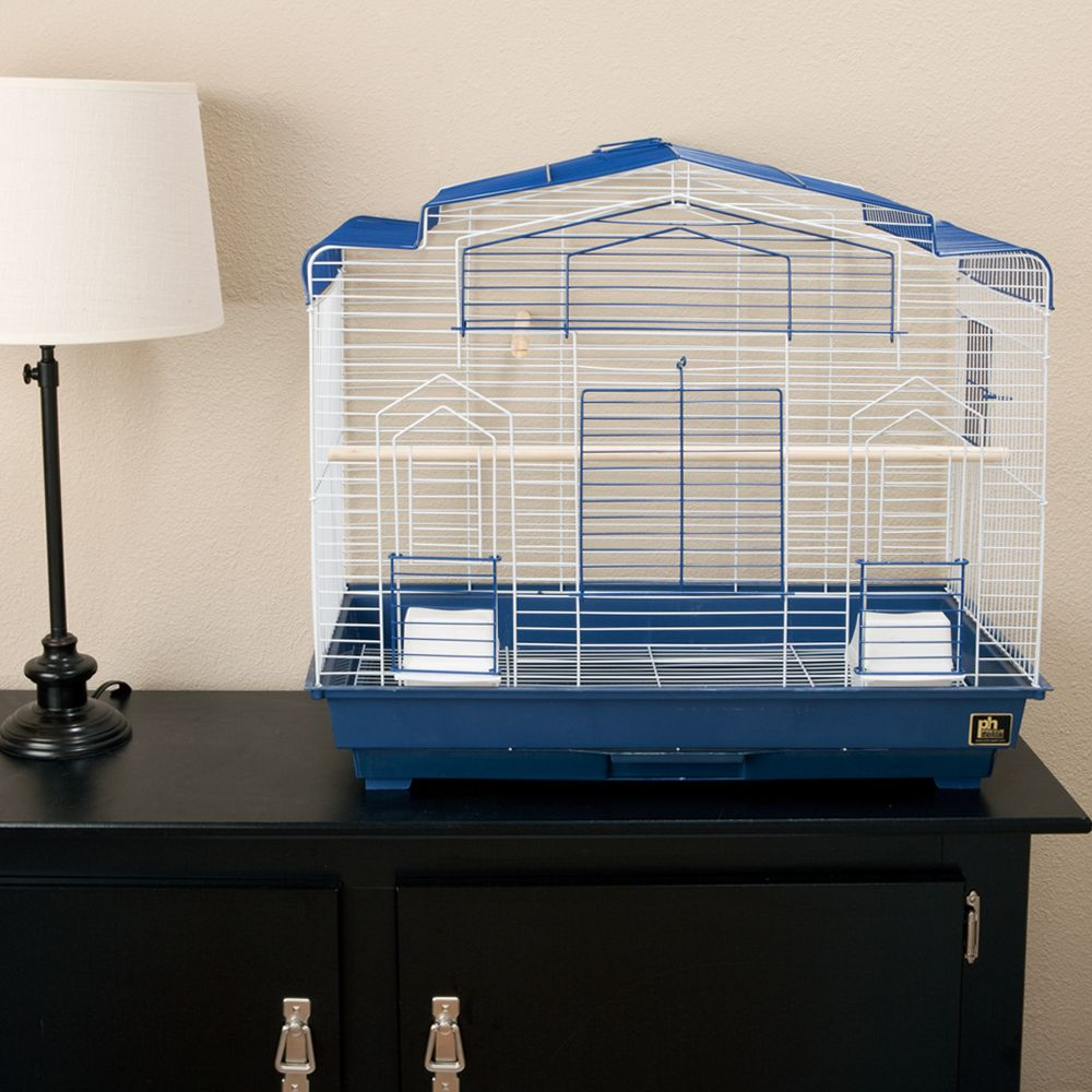 Prevue Pet Products Barn Style Bird Cage Blue & White 5158670