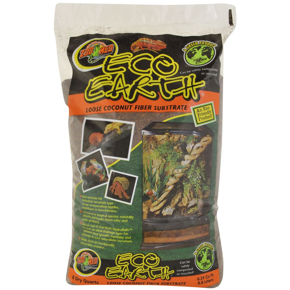Zoo Med Eco Earth Loose Fiber Reptile Substrate