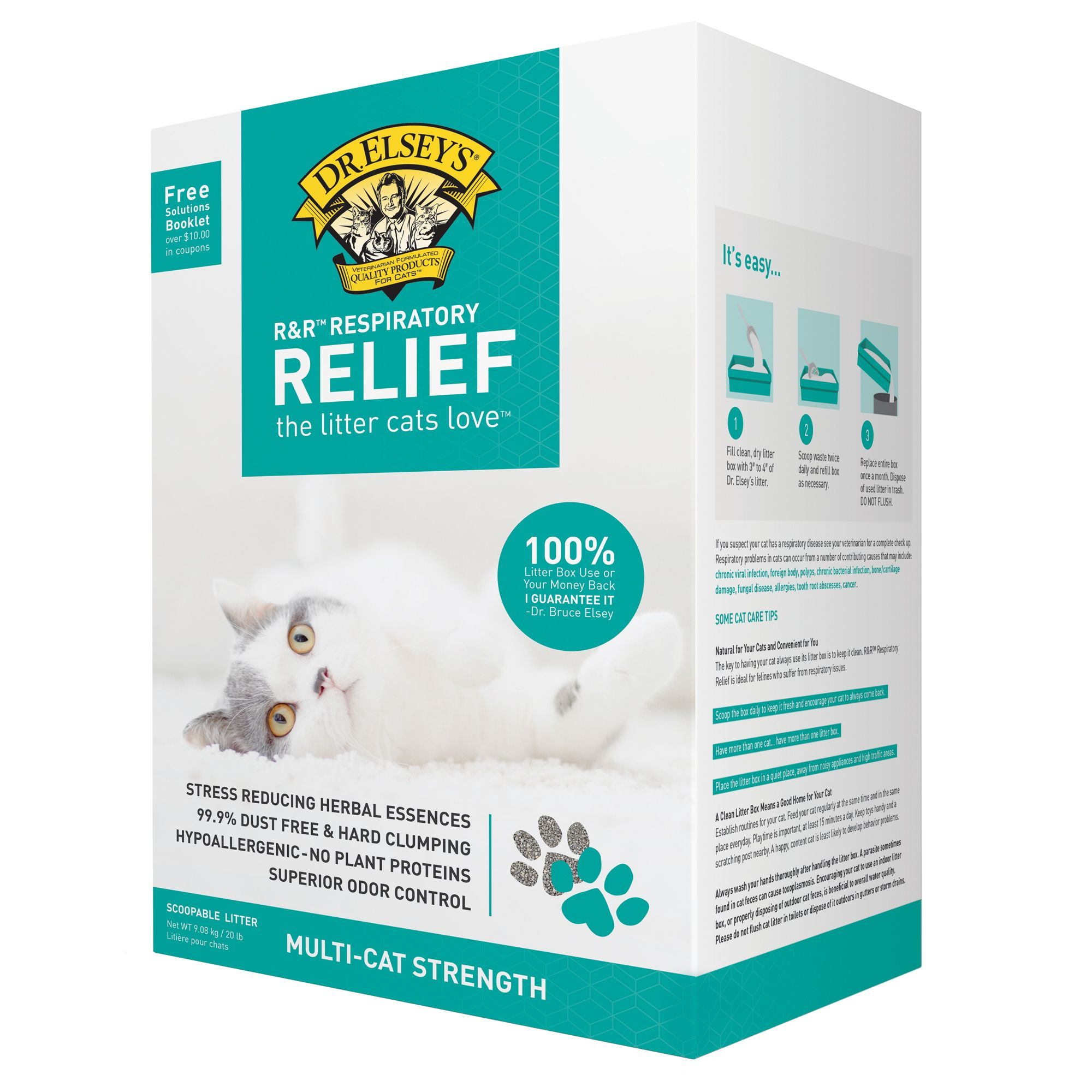 Precious Cat Respiratory Relief Clumping Clay Cat Litter Size 20 Lb