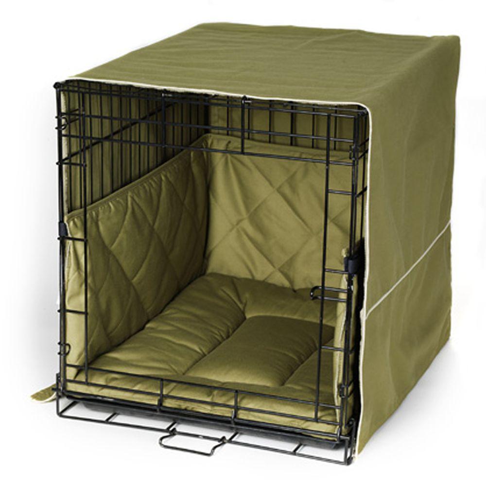 Pet Dreams Classic Cratewear Dog Bedding Set Size 42l X 28w X 31h Green