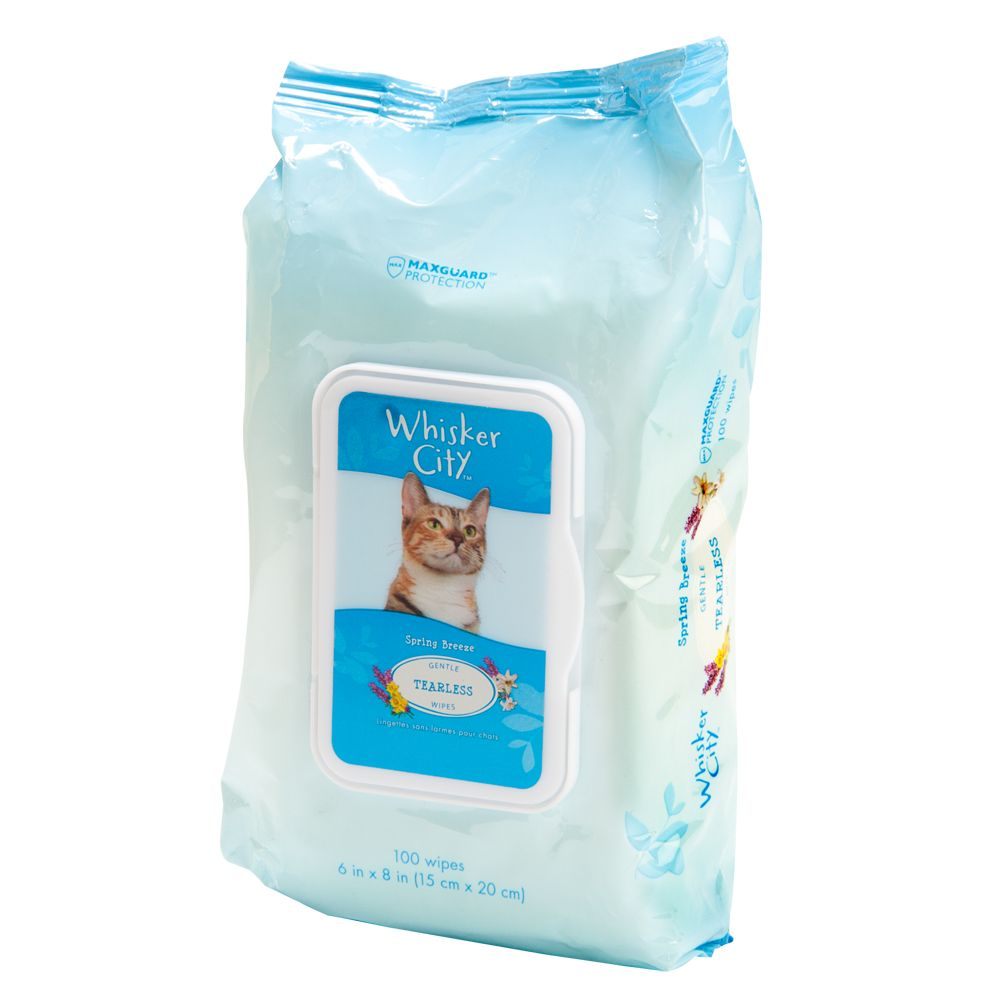 Whisker City Gentle Tearless Cat Wipes