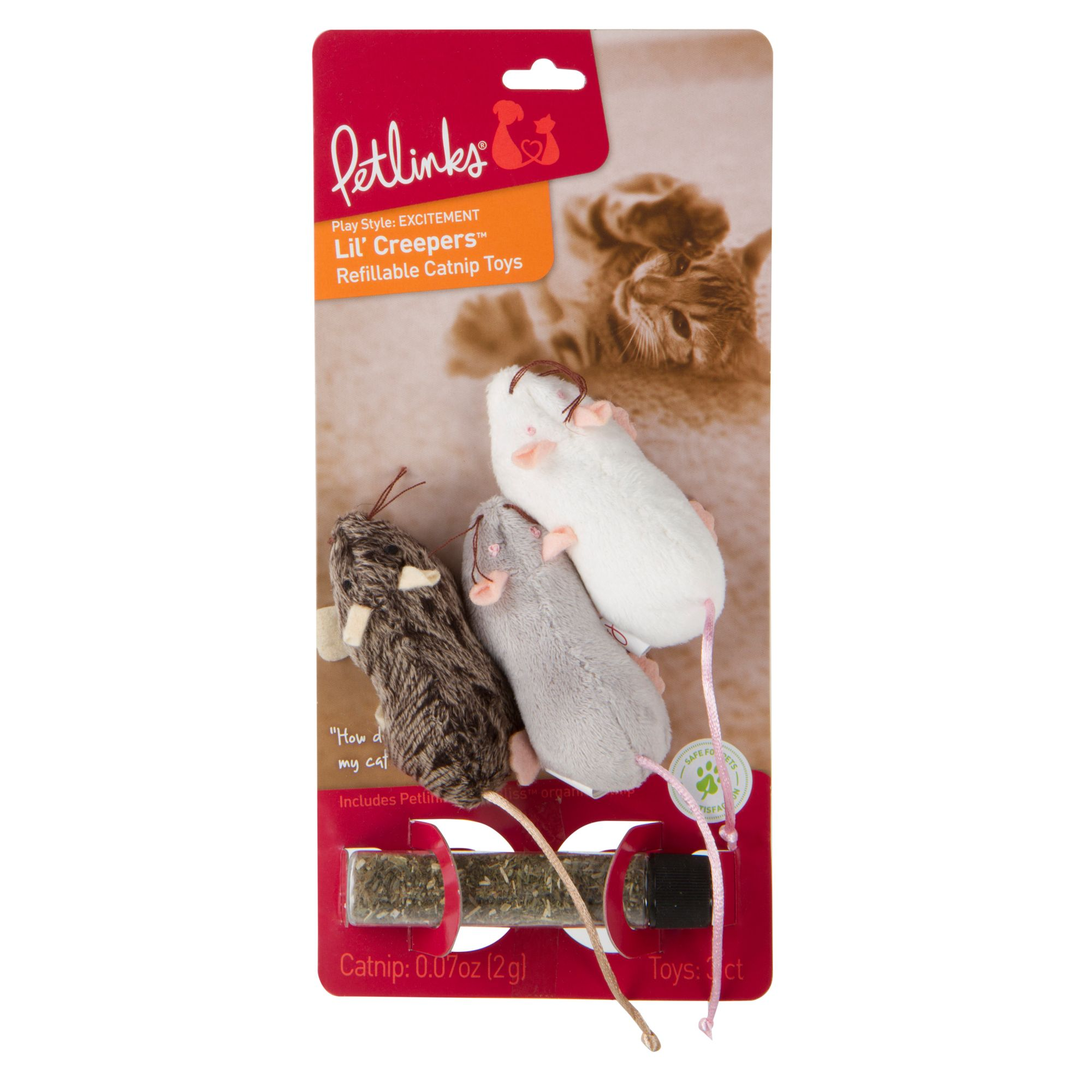Petlinks Lil Creepers Mice Cat Toy, Multi-Color 5161105