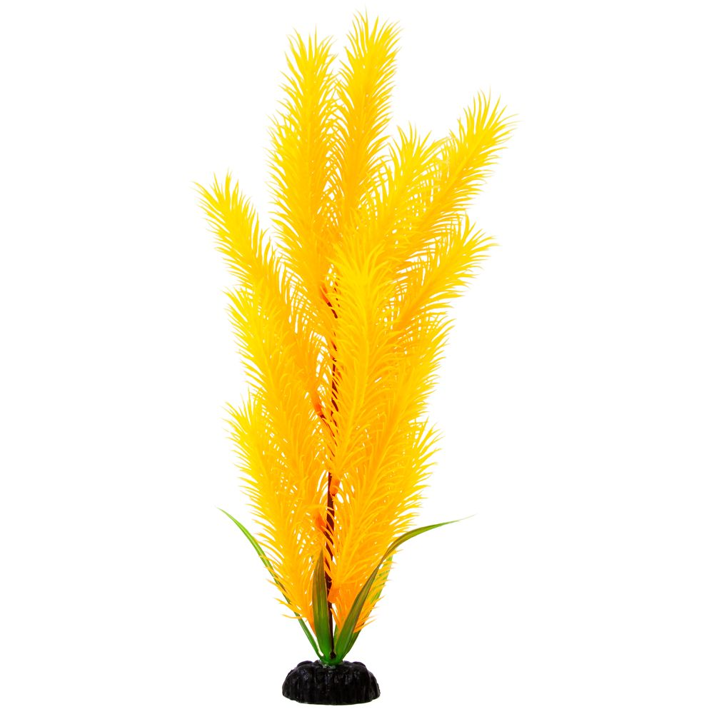 Top Fin® Artificial Yellow Hair Aquarium Plant size: 12 in, Orange & Yellow 5161457