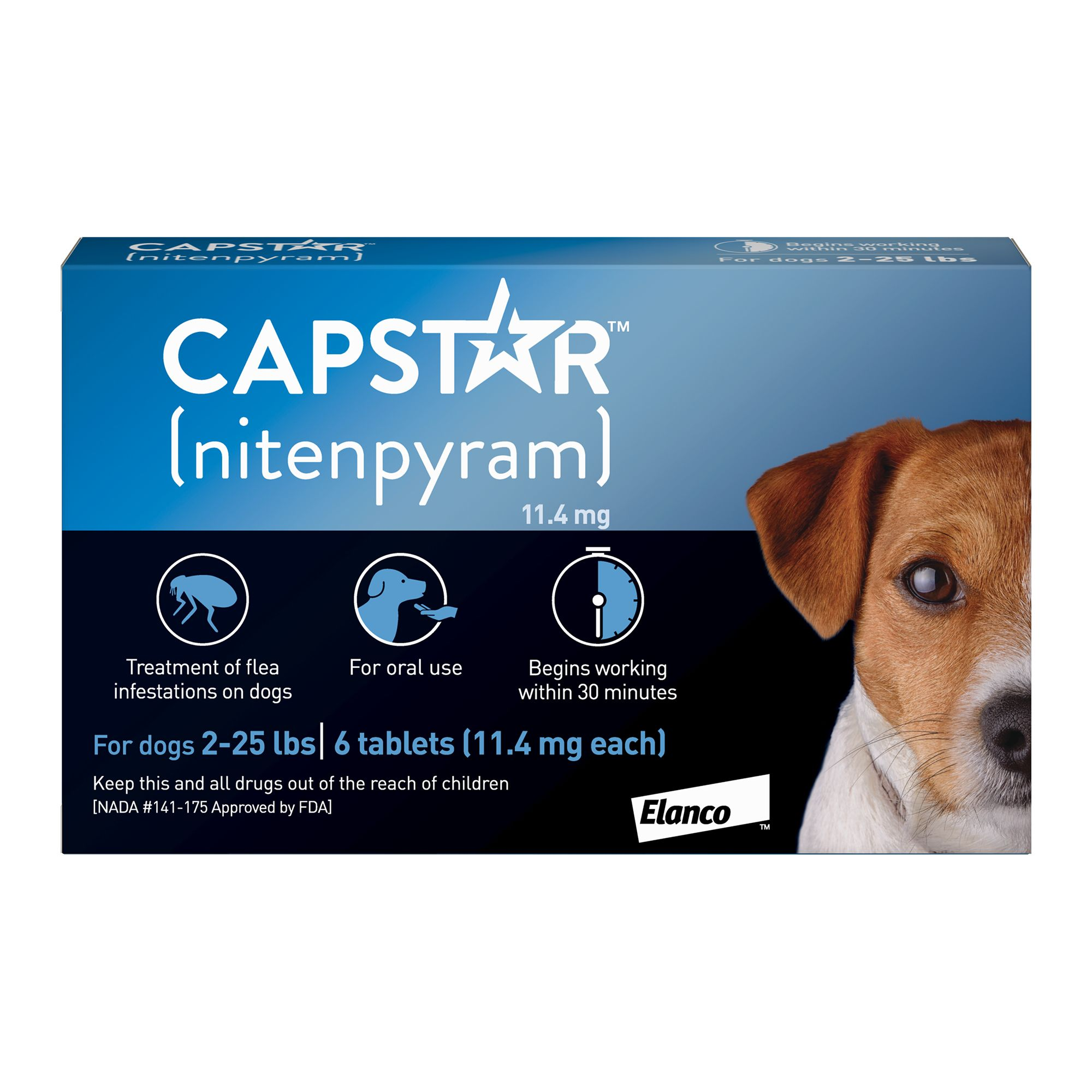 Capstar 2 25 Lb Dog And Cat Flea Treatment Size 6 Count