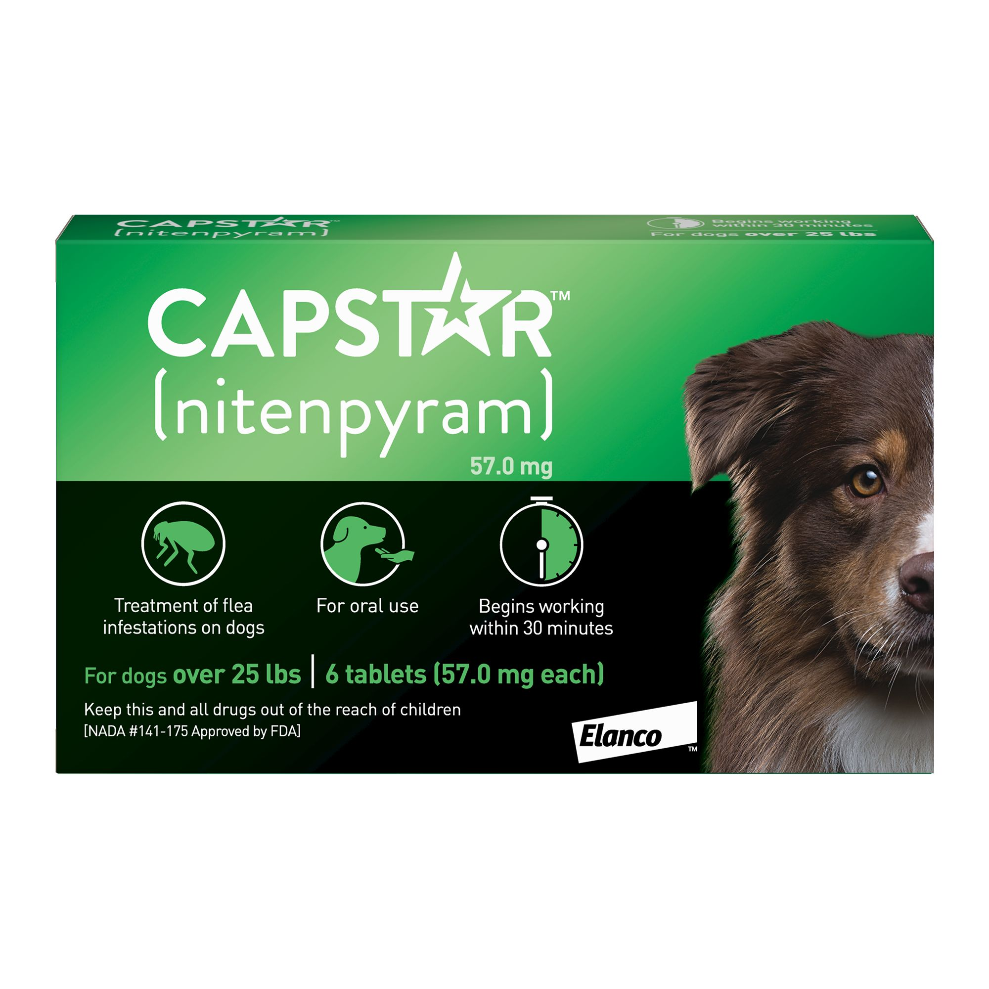 Capstar Over 25 Lb Dog Flea Treatment