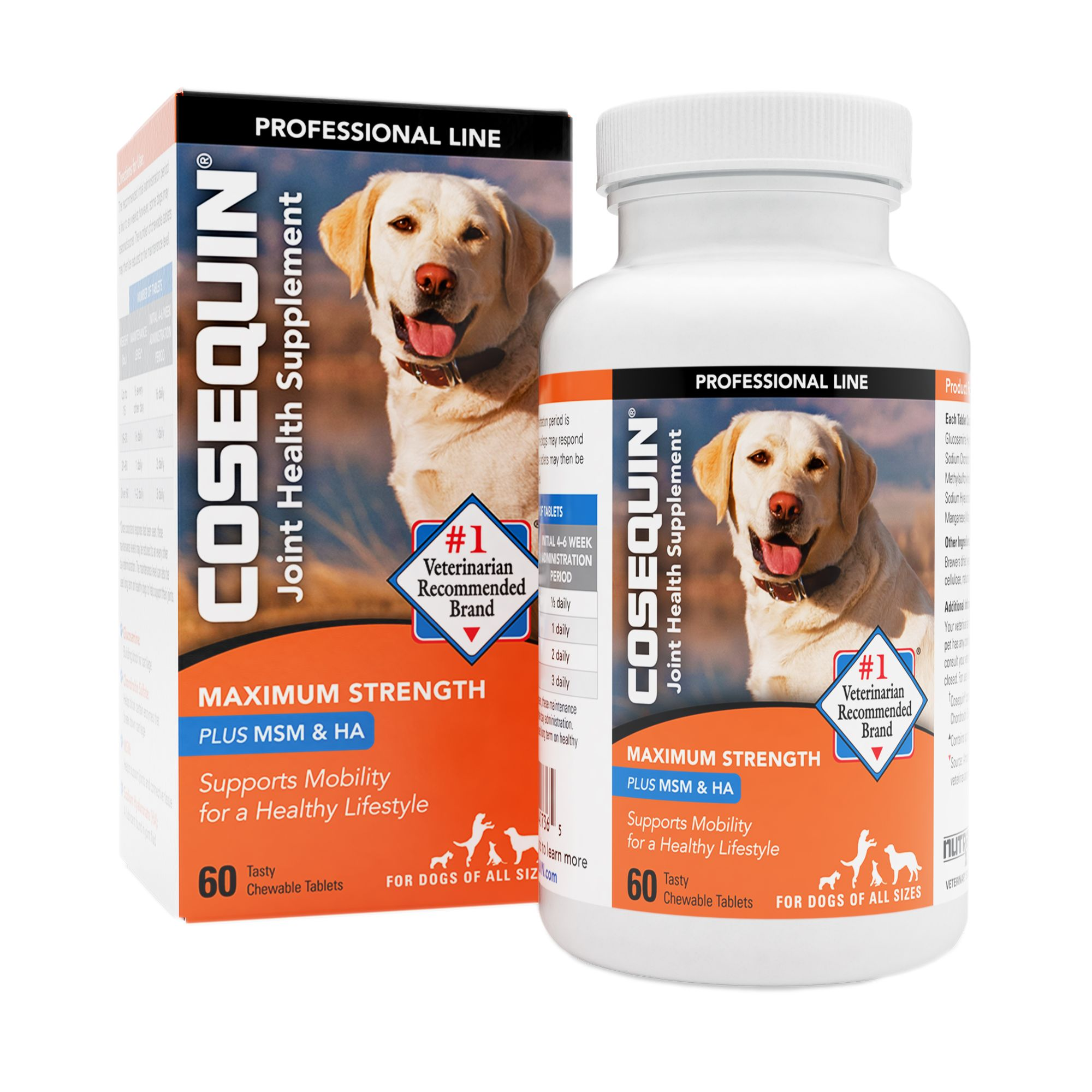Cosequin Nutramax Professional Joint Health Dog Supplement Size 60 Count Nutramax Laboratories