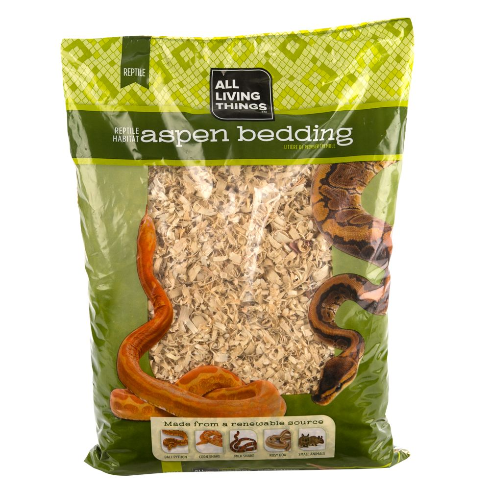 All Living Things Aspen Reptile Bedding Size 24 Qt Natural