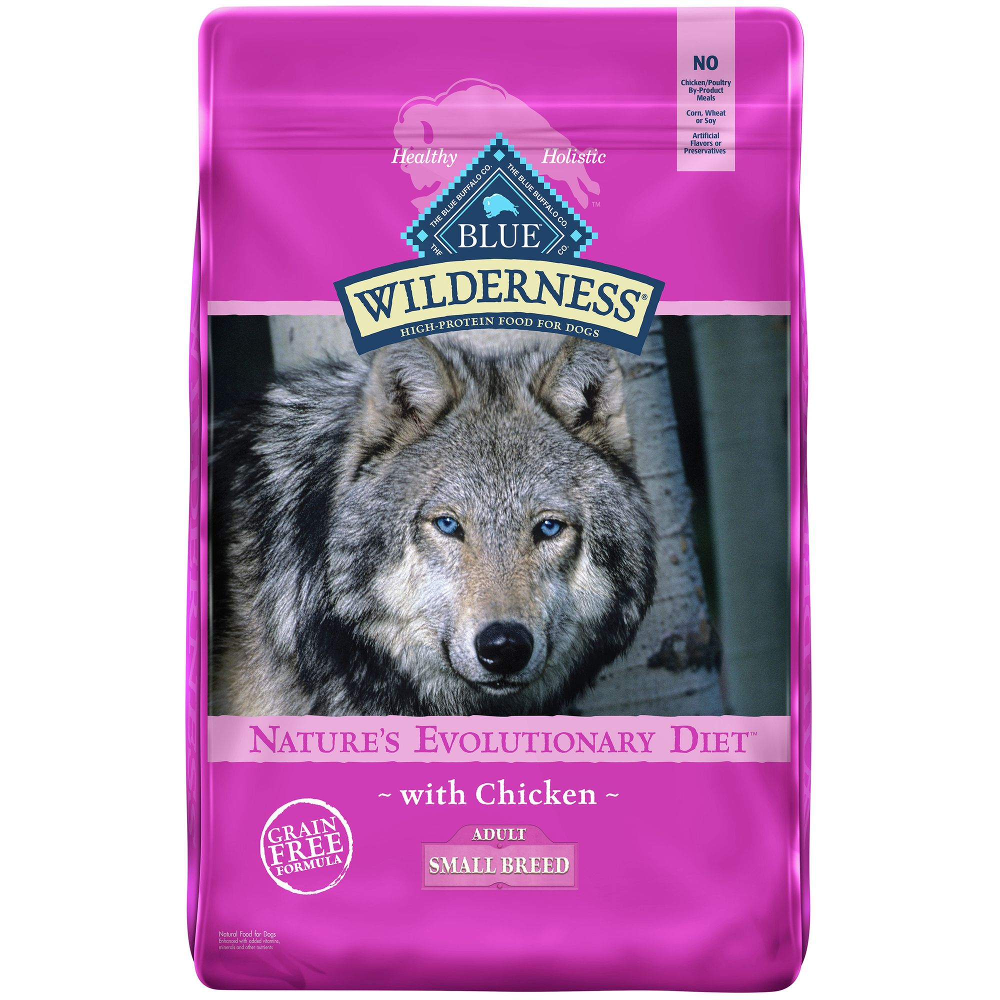 Crestfallen Wilderness Grain Free Small Breed Adult Dog Food size: 11 Lb, Blue Buffalo, Chicken
