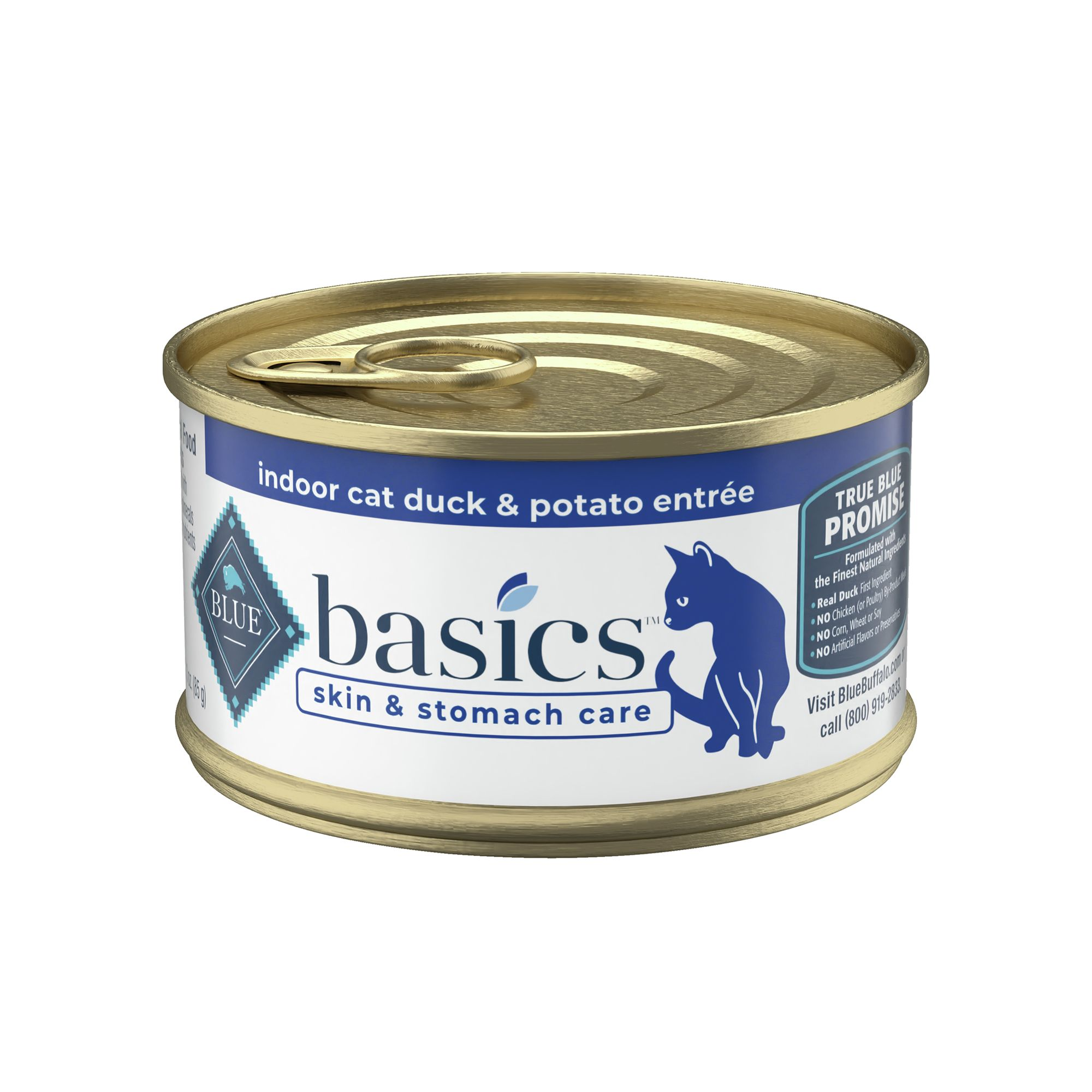 Blue Basics® Limited Ingredient Duck and Potato Cat Food