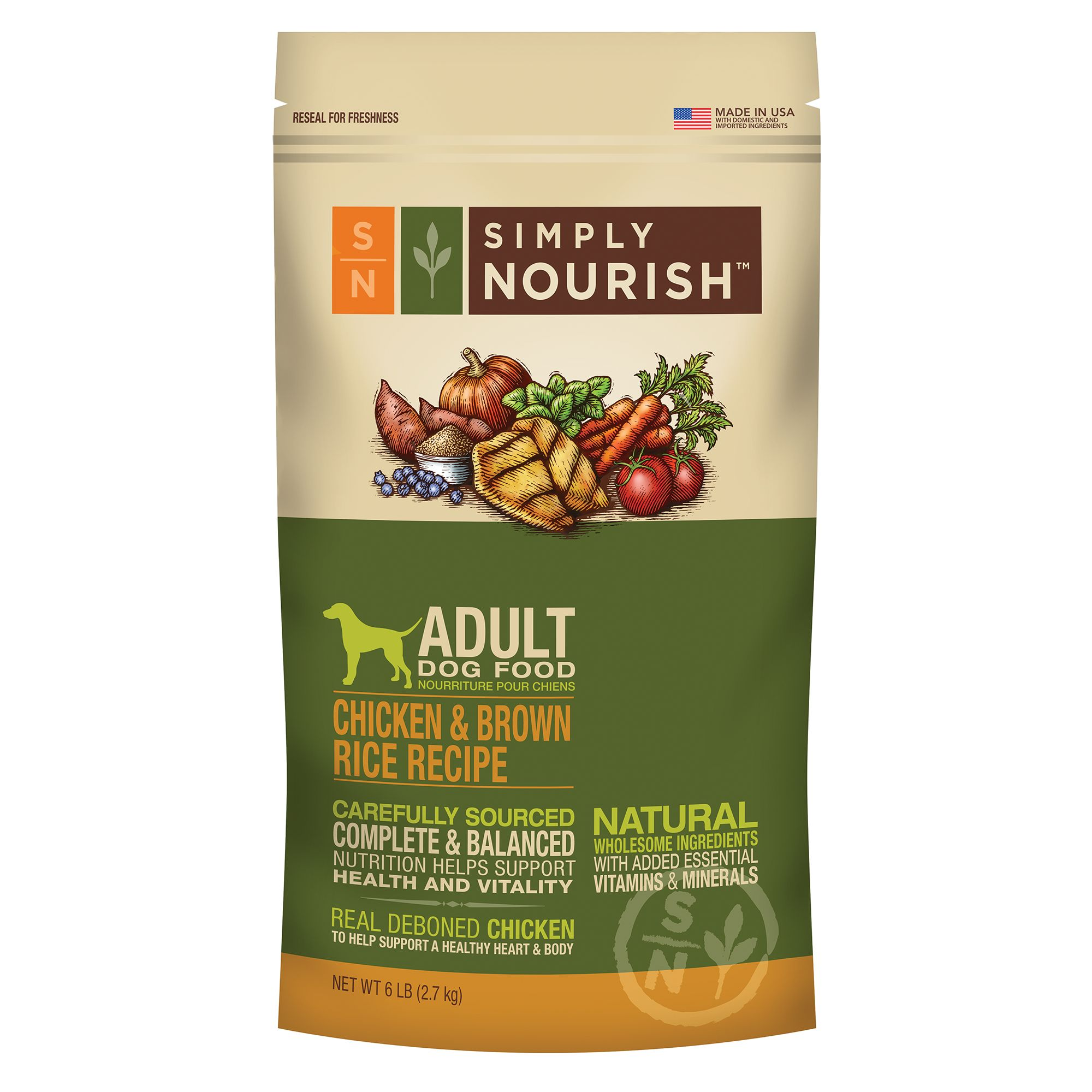 Simply Nourish, Adult Dog Food - Natural size: 6 Lb 5162944