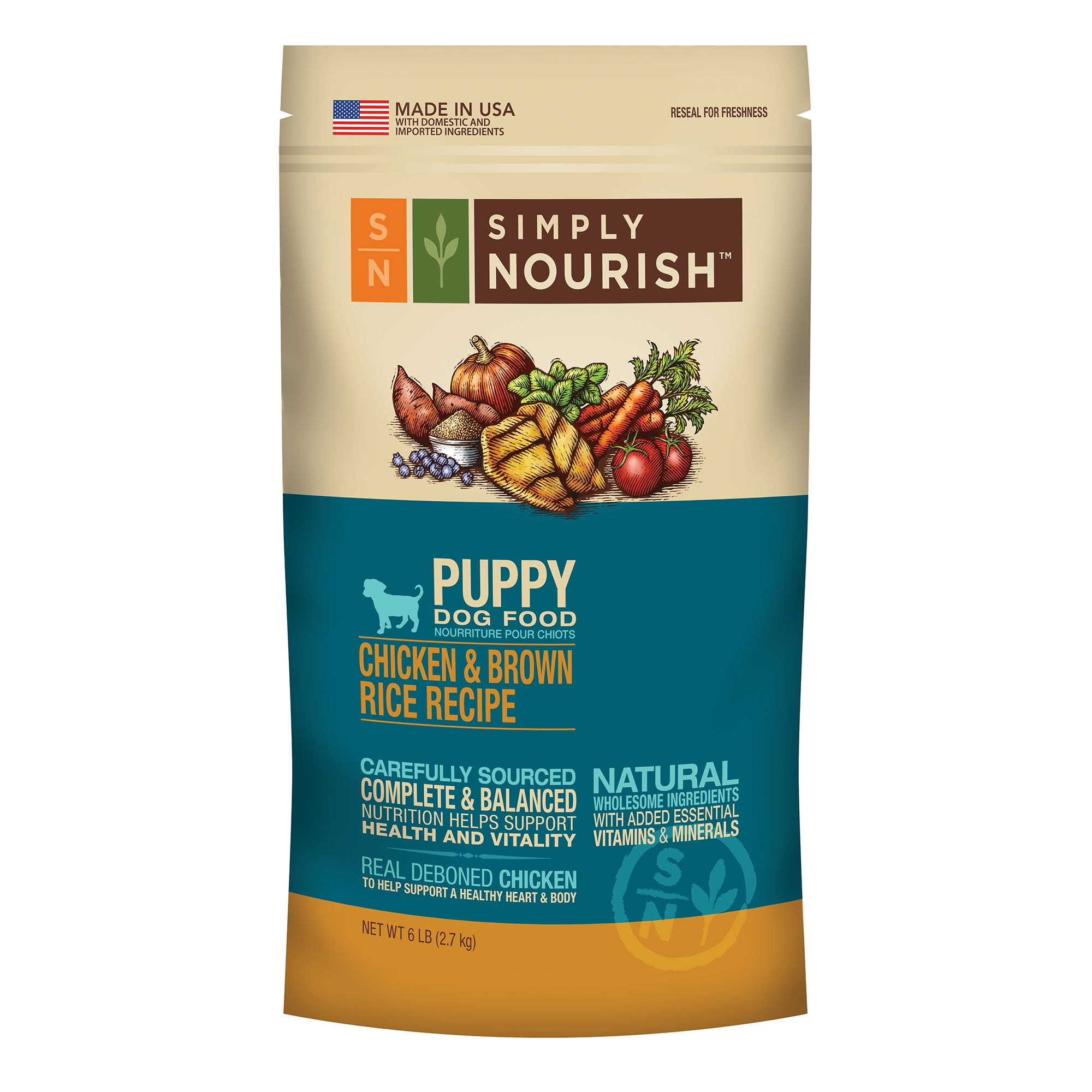 Simply Nourish Puppy Food - Natural, Chicken and Brown Rice size: 6 Lb 5162962