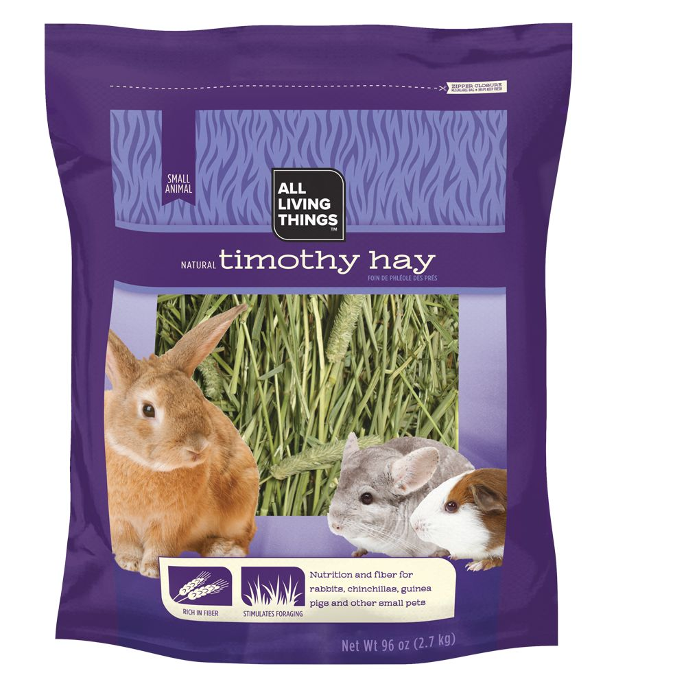 All Living Things Natural Timothy Small Animal Hay Size 96 Oz