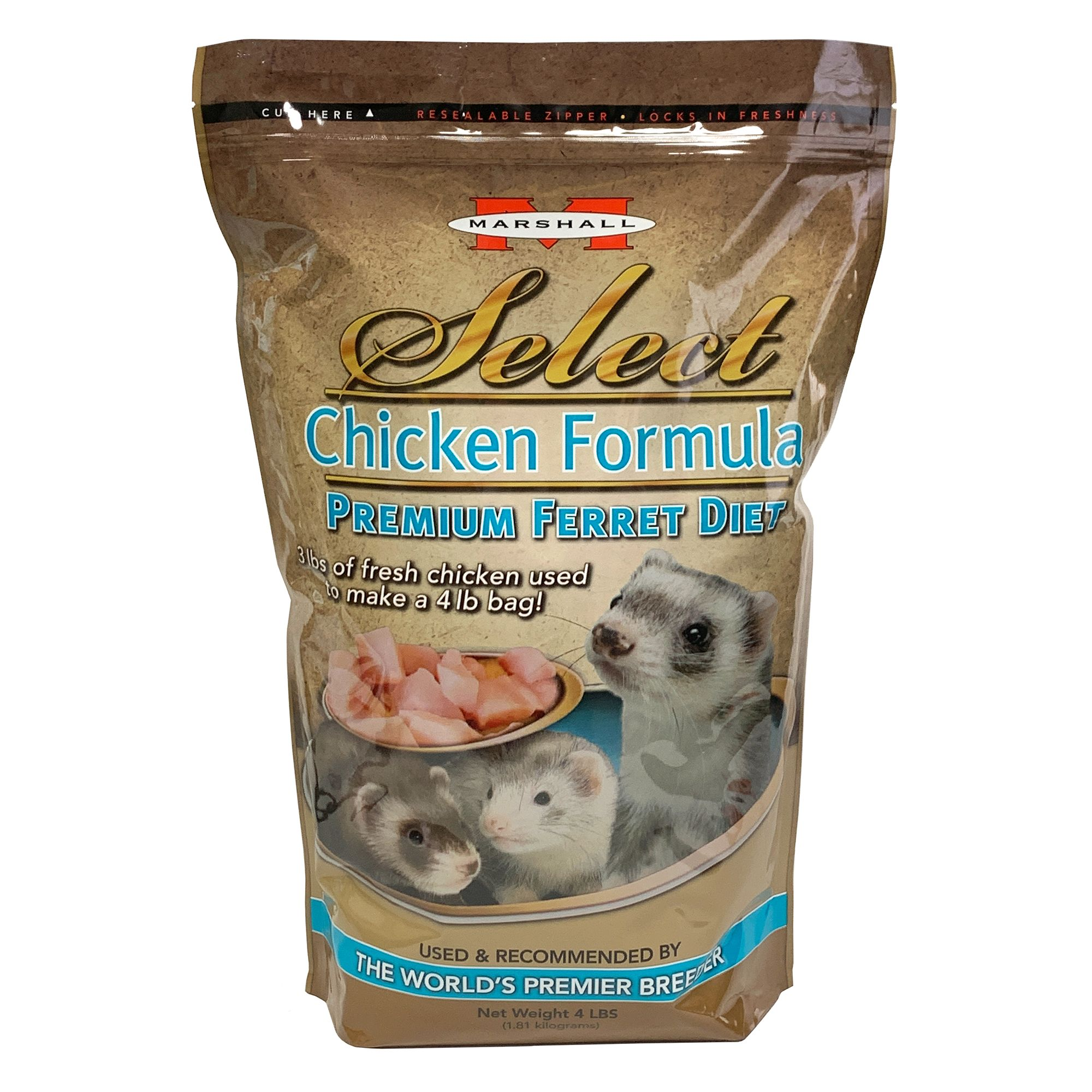 Marshall Select Premium Ferret Diet Food Size 4 Lb