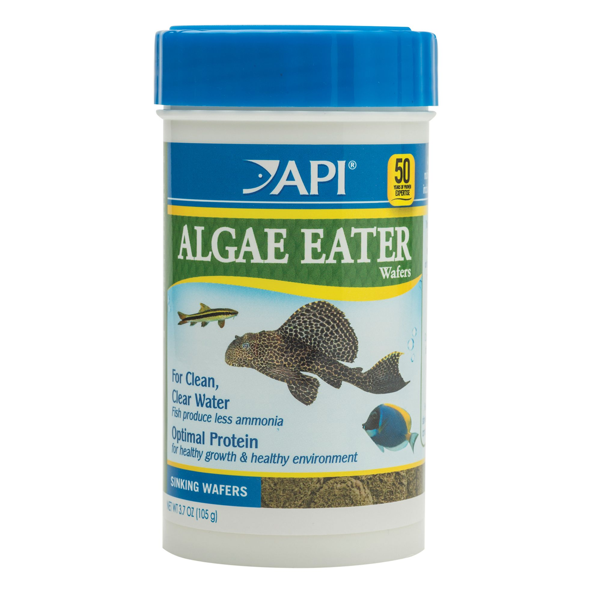Api Algae Eater Premium Algae Wafers Fish Food size: 3.7 Oz, Wheat flour