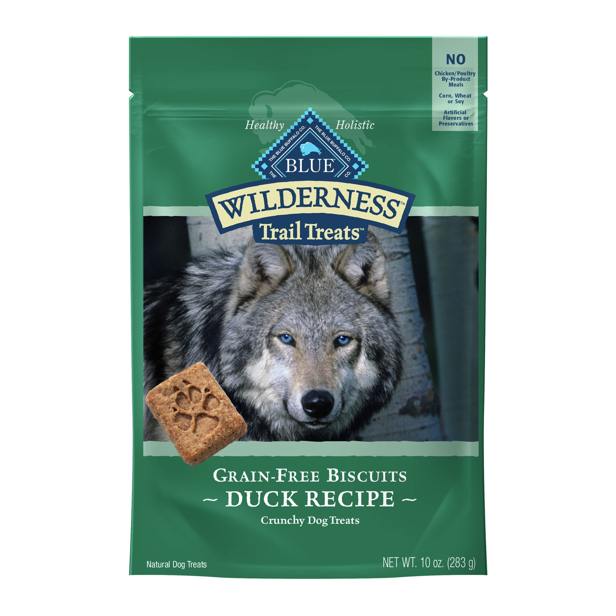 Blue Wilderness Trail Treats Grain Free Dog Treat size: 10 Oz, Blue Buffalo, Duck, Adult