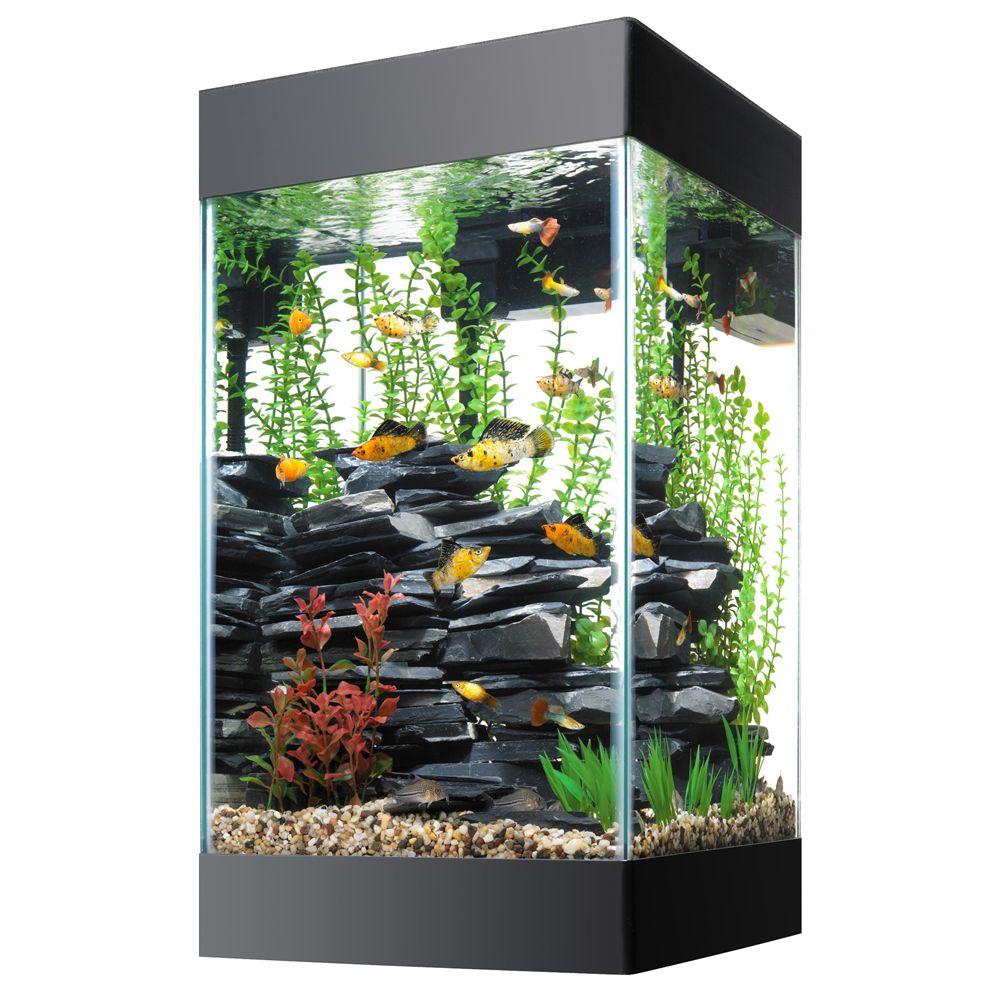 Aqueon 15 Gallon Column Deluxe Aquarium Kit Size 15 Gal