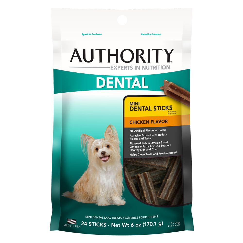 Authority® Dental Dog Treats size: Mini