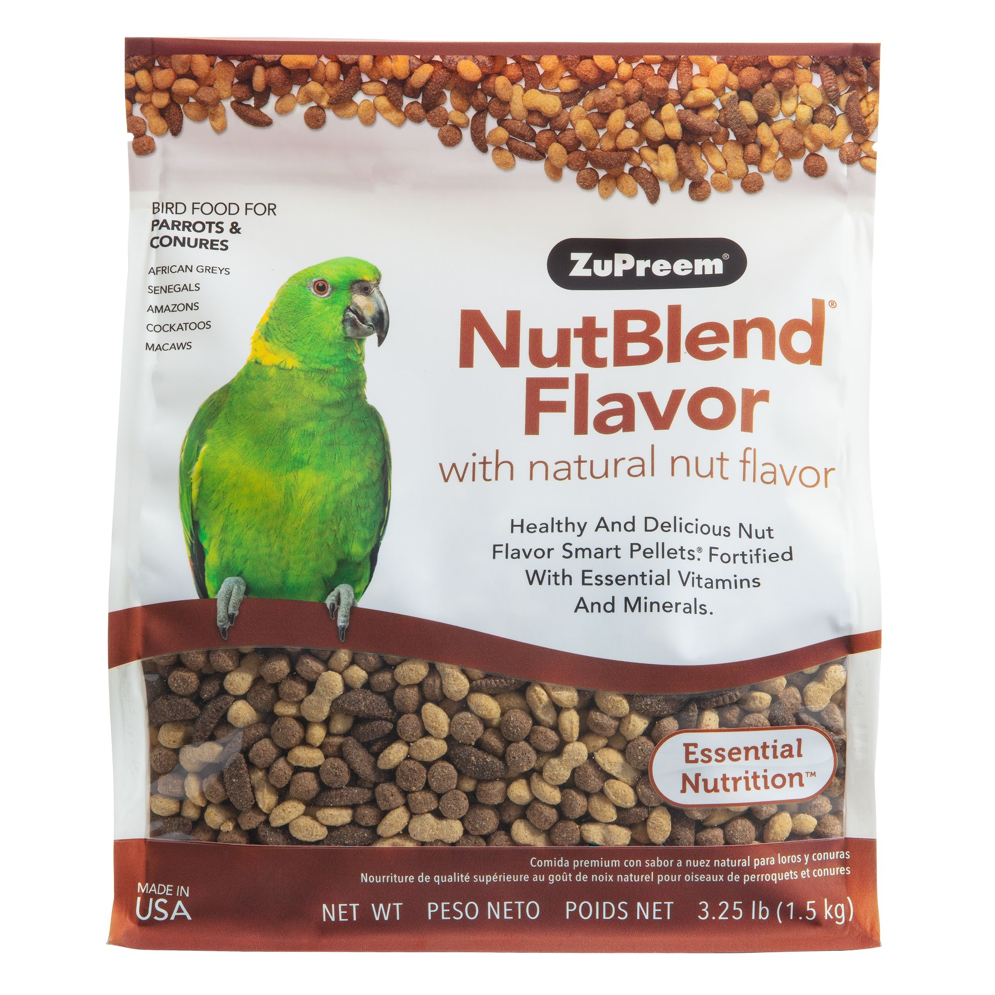 ZuPreem NutBlend Bird Grub size: 3.25 Lb