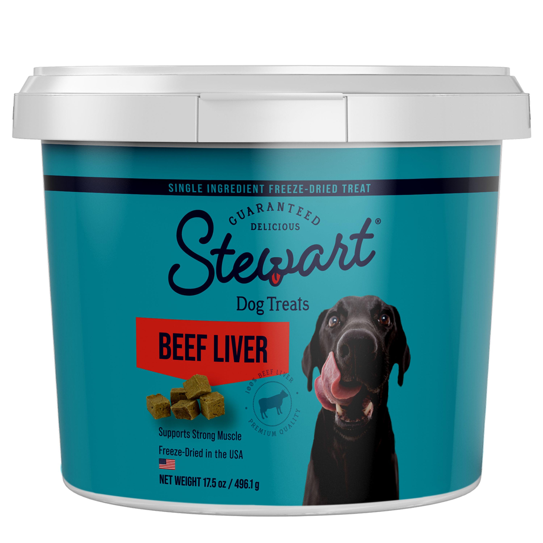 Stewart Pro-Treat Freeze Dried Training Treat size: 17.5 Oz, Beef Liver, Adult 5167166