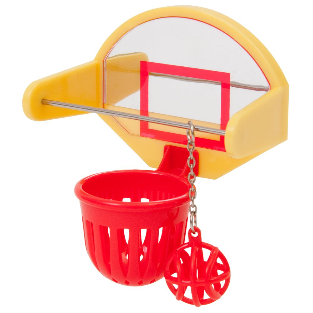 JW Pet Insight Activitoys Birdie Basketball Toy 5167202