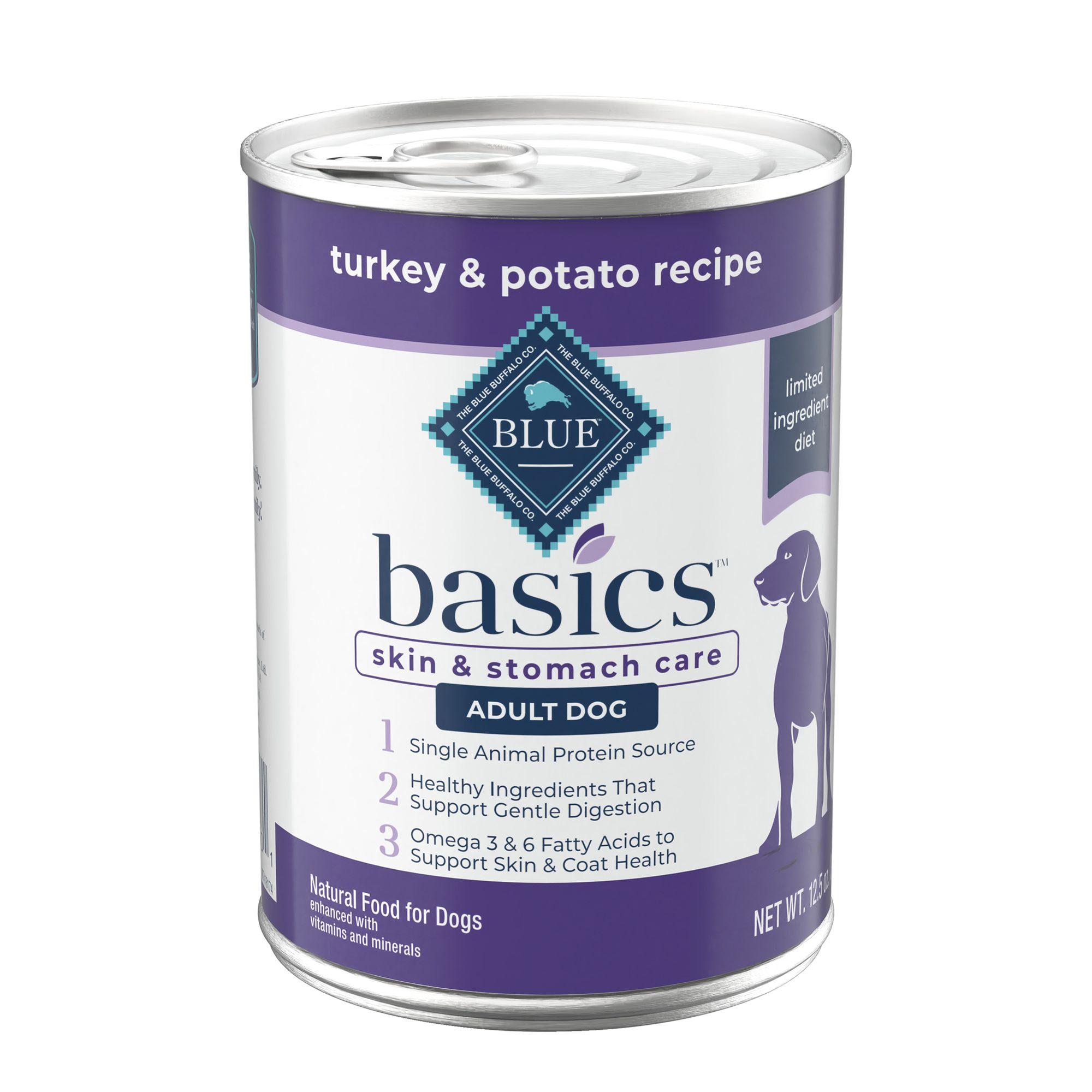 Blue Basics Limited Ingredient Adult Dog Food Size 12.5 Oz Blue Buffalo