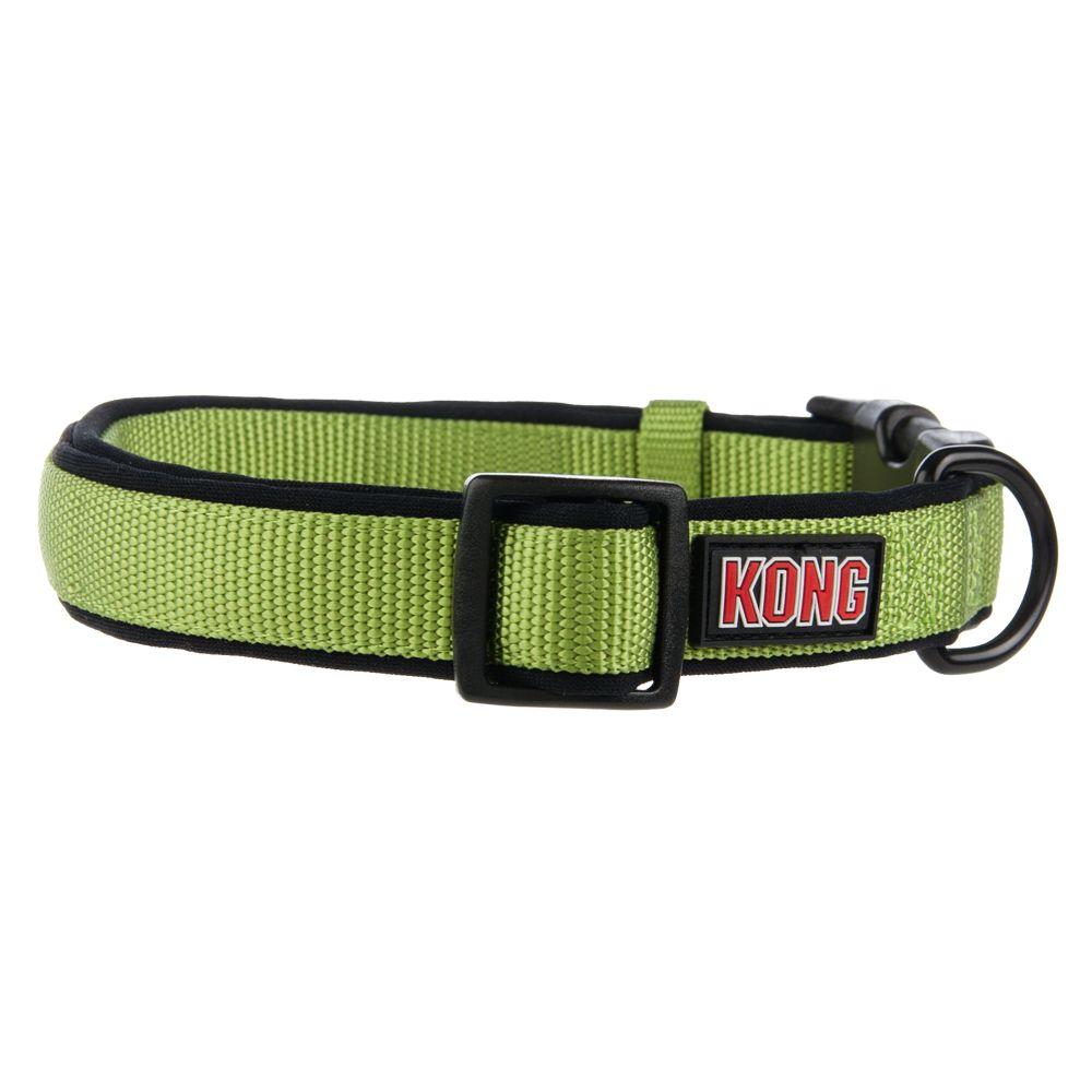Kong Comfort Dog Collar Size 8l X 0.625w Green